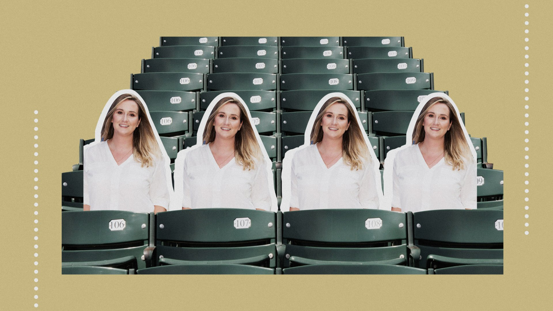 Lara Smedley is the founder of My Fan Seats, a Denver-based company that makes cardboard cutout fans.