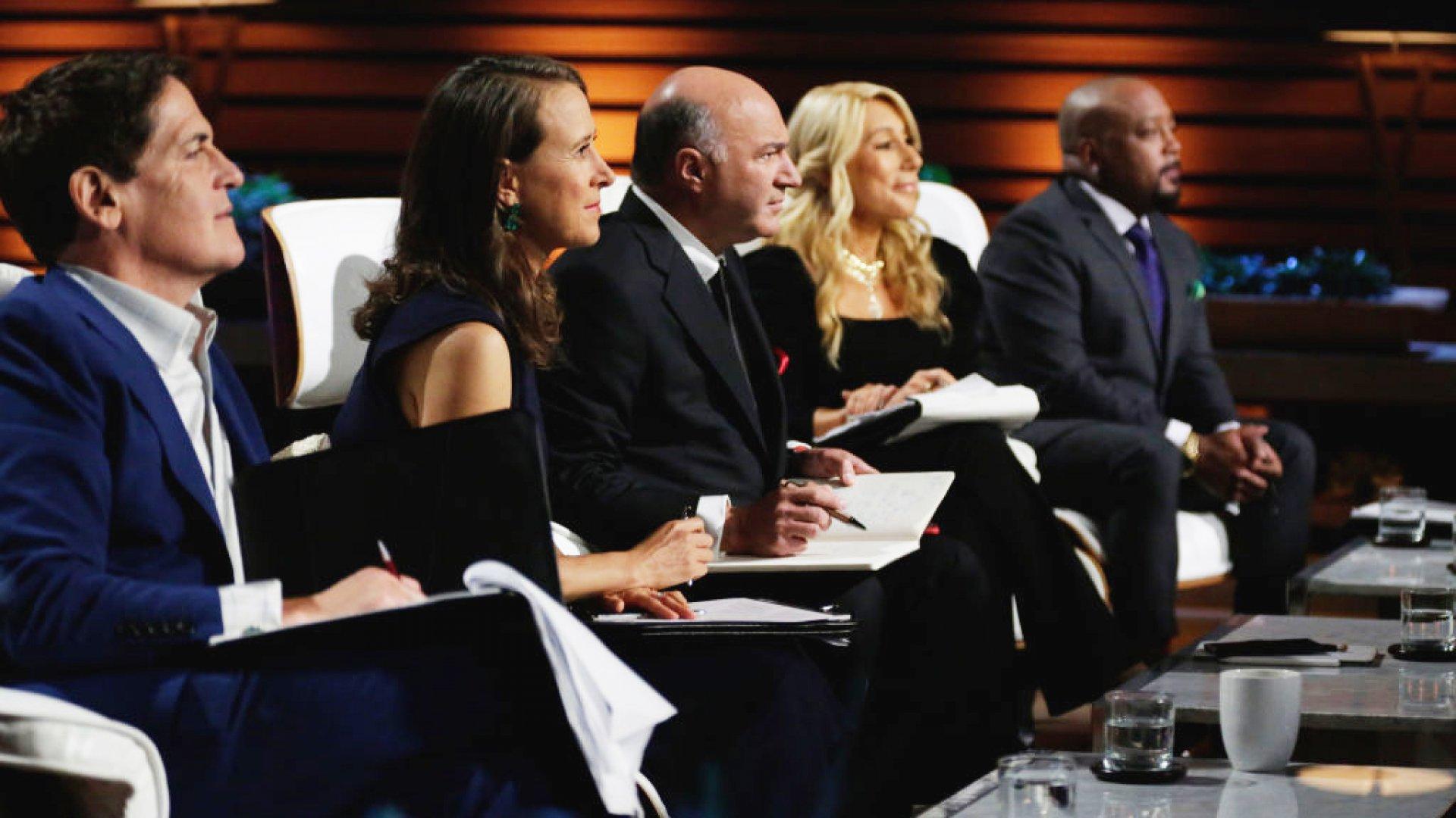 Mark Cuban, Anne Wojcicki, Kevin O'Leary, Lori Greiner, and Daymond John on 'Shark Tank.'