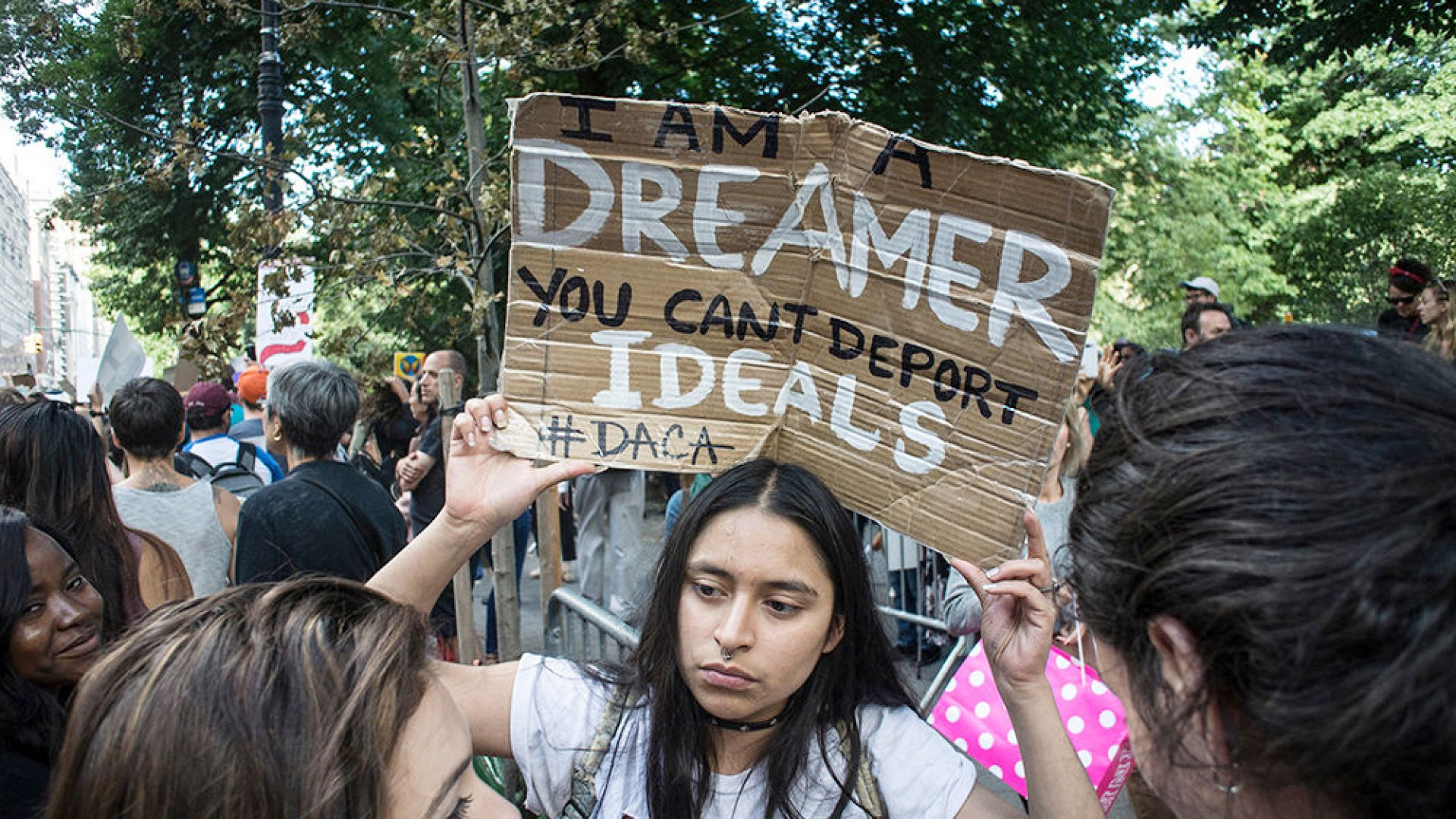 DACA protest in Central Park  in New York City.