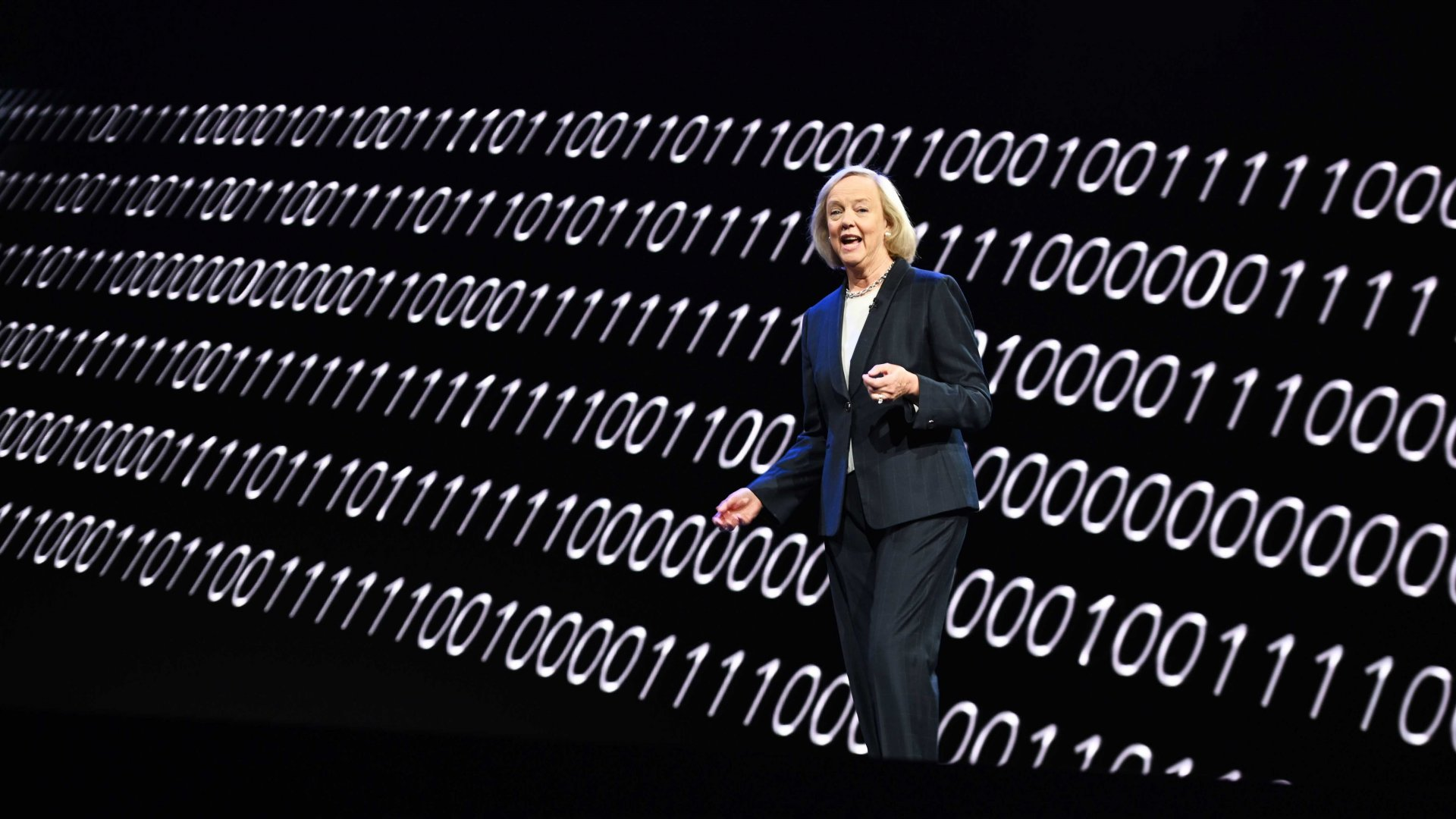 Quibi CEO Meg Whitman speaks about the short-form video streaming service during a keynote address January 8, 2020 at the 2020 Consumer Electronics Show (CES) in Las Vegas.