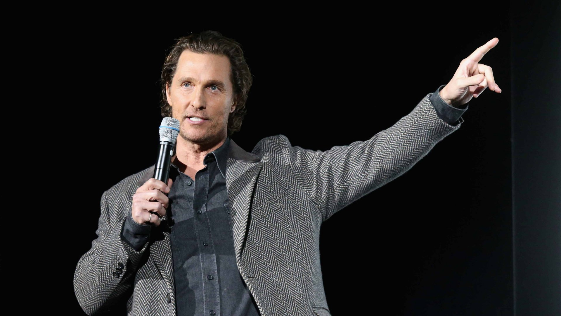 "Matthew McConaughey introduces a special screening of his new film ""The Gentlemen"" at Hogg Memorial Auditorium at The University of Texas at Austin"