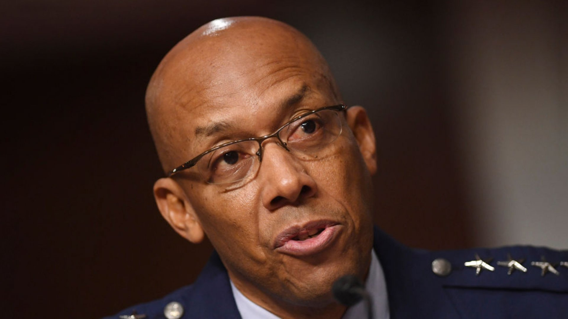General Charles Q. Brown Jr. testifies on his nomination to be chief of staff, United States Air Force, before the Senate Armed Services committee.