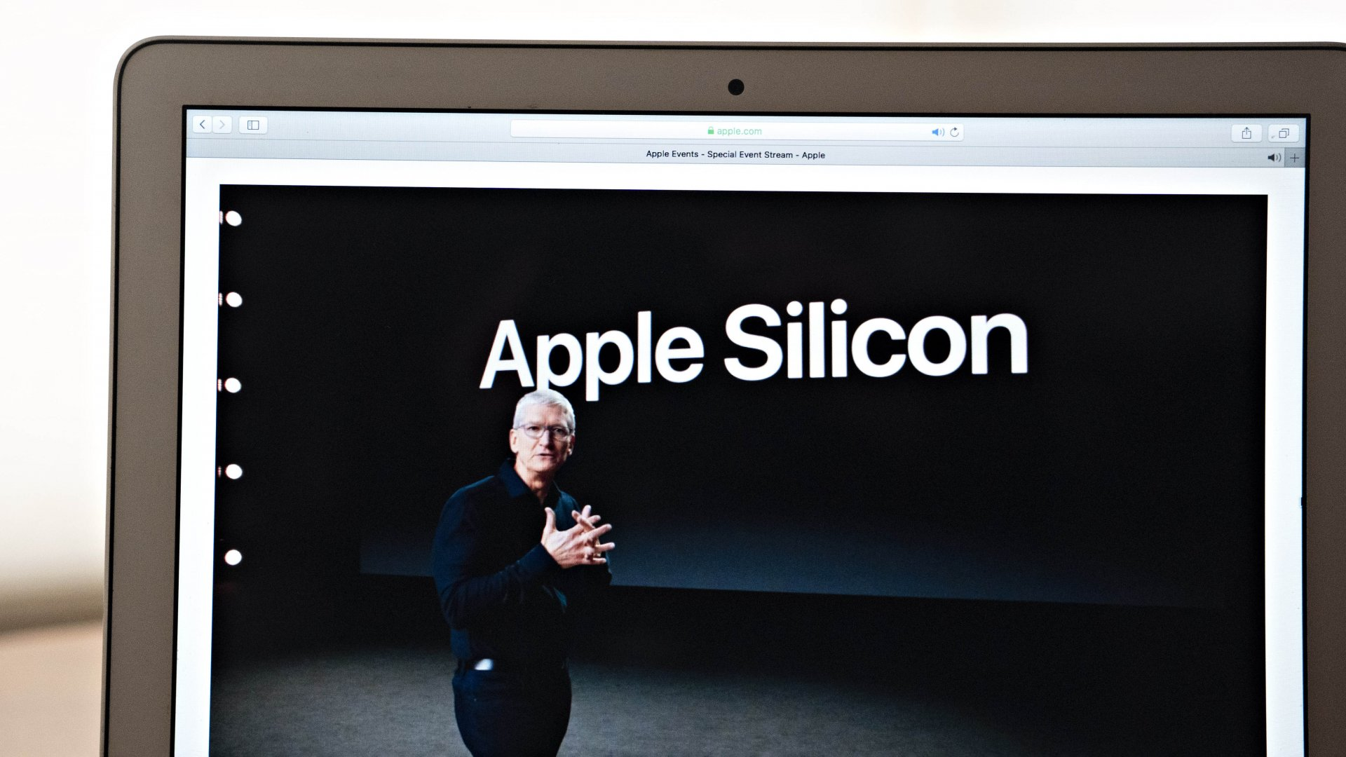 Tim Cook, CEO of Apple, speaks during the Apple Worldwide Developers Conference, on Monday, June 22, 2020.