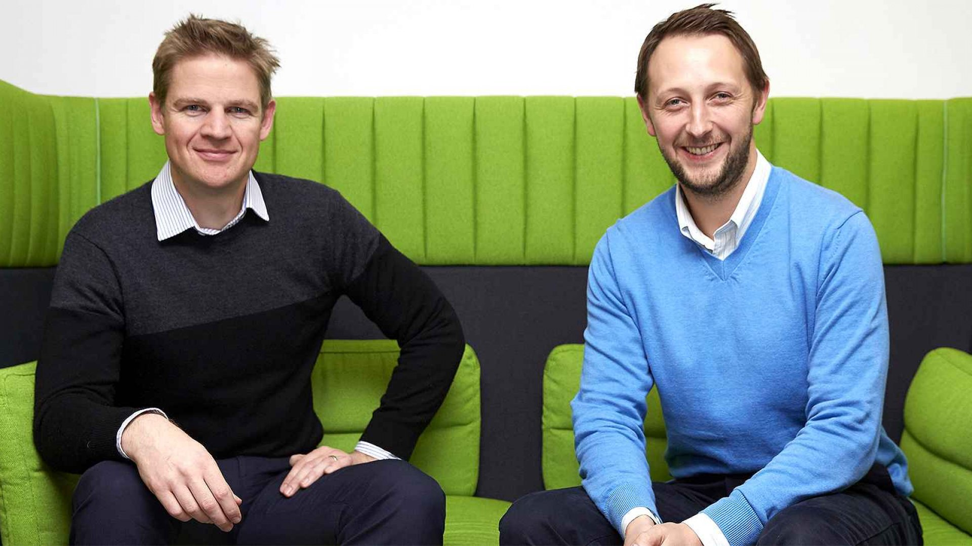 Nigel Eccles (right) and Tom Griffiths, two of FanDuel's co-founders.