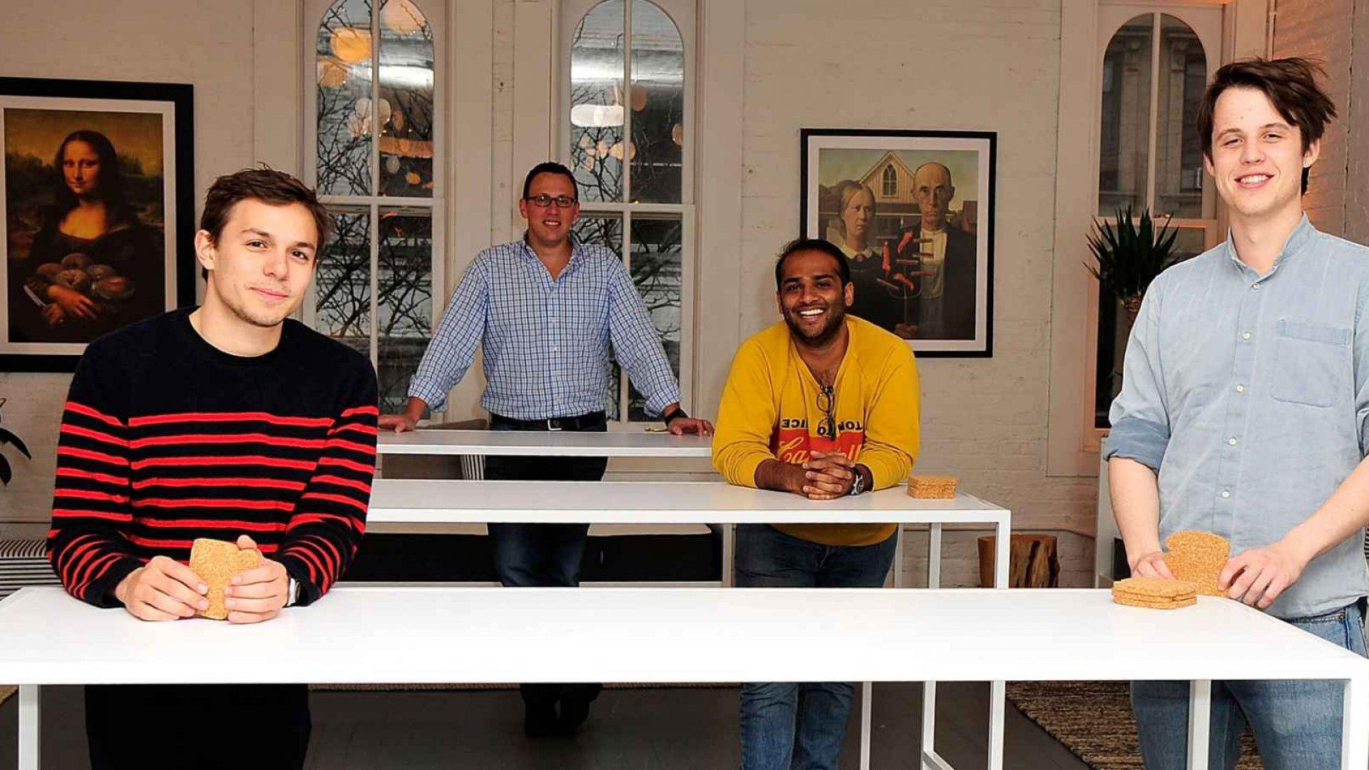 Gabriel Flademan (left), Philip Krim, Neil Parikh, and Luke Sherwin of Casper.