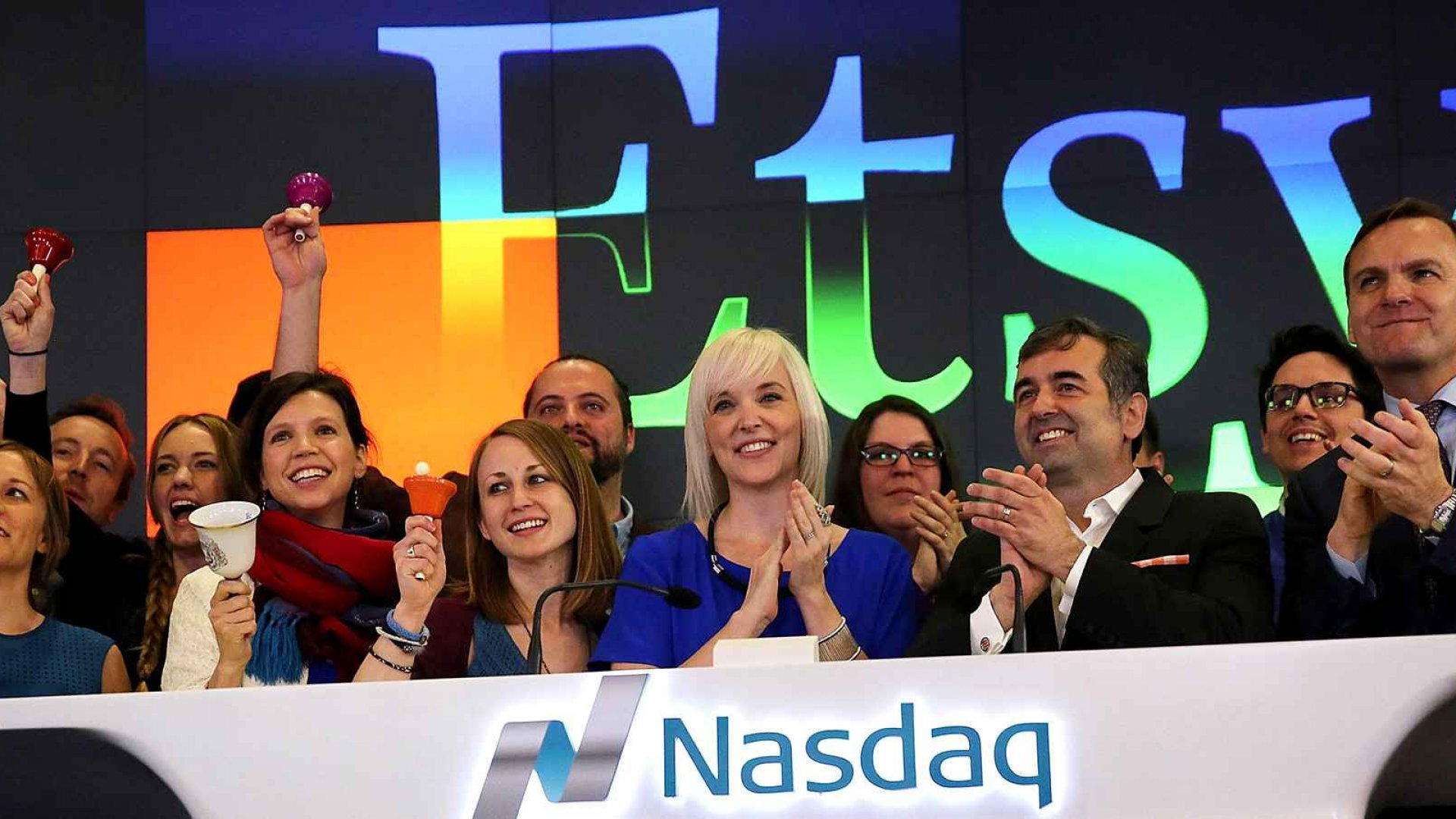 Etsy CEO Chad Dickerson, third from right.