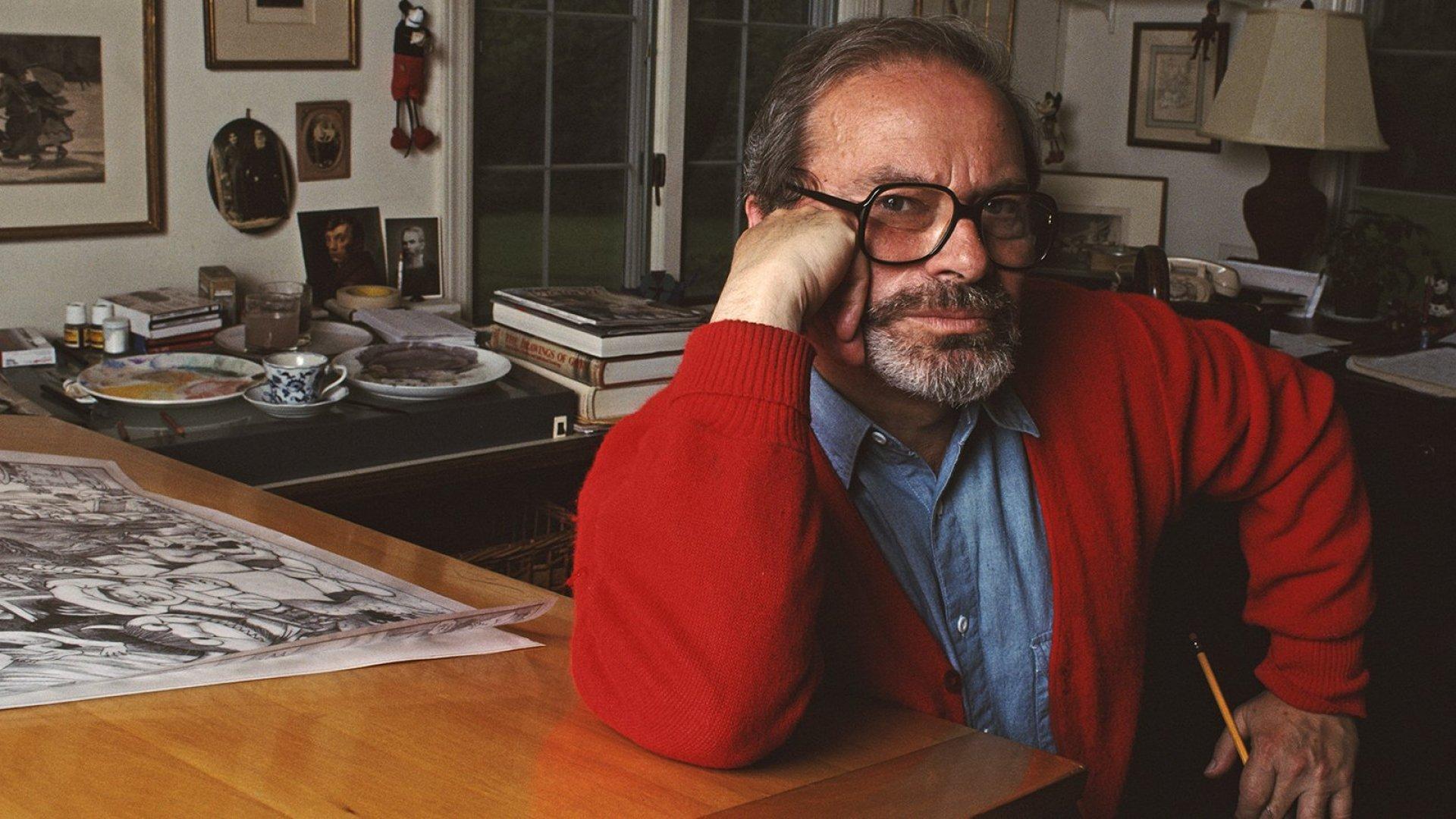 American illustrator and children's writer Maurice Sendak.