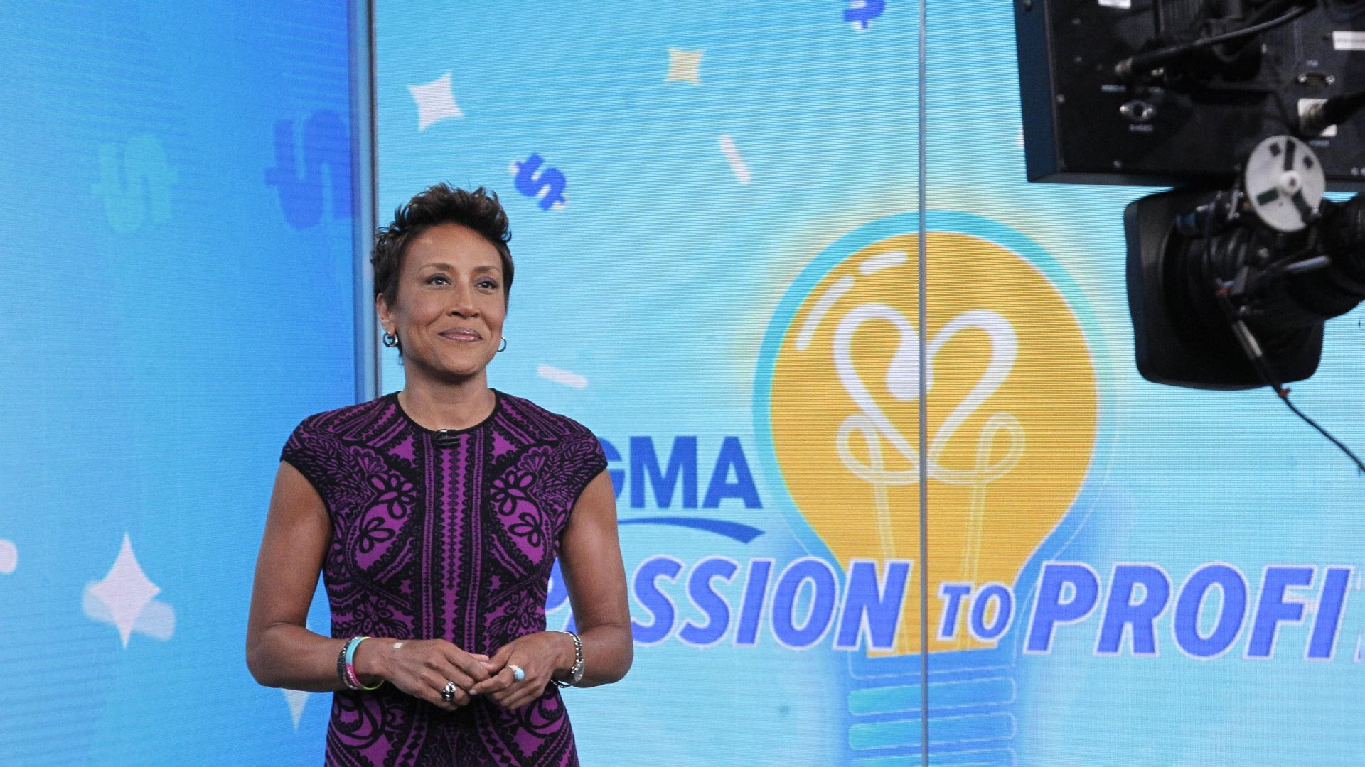 Robin Roberts on the set of 'Good Morning America.'