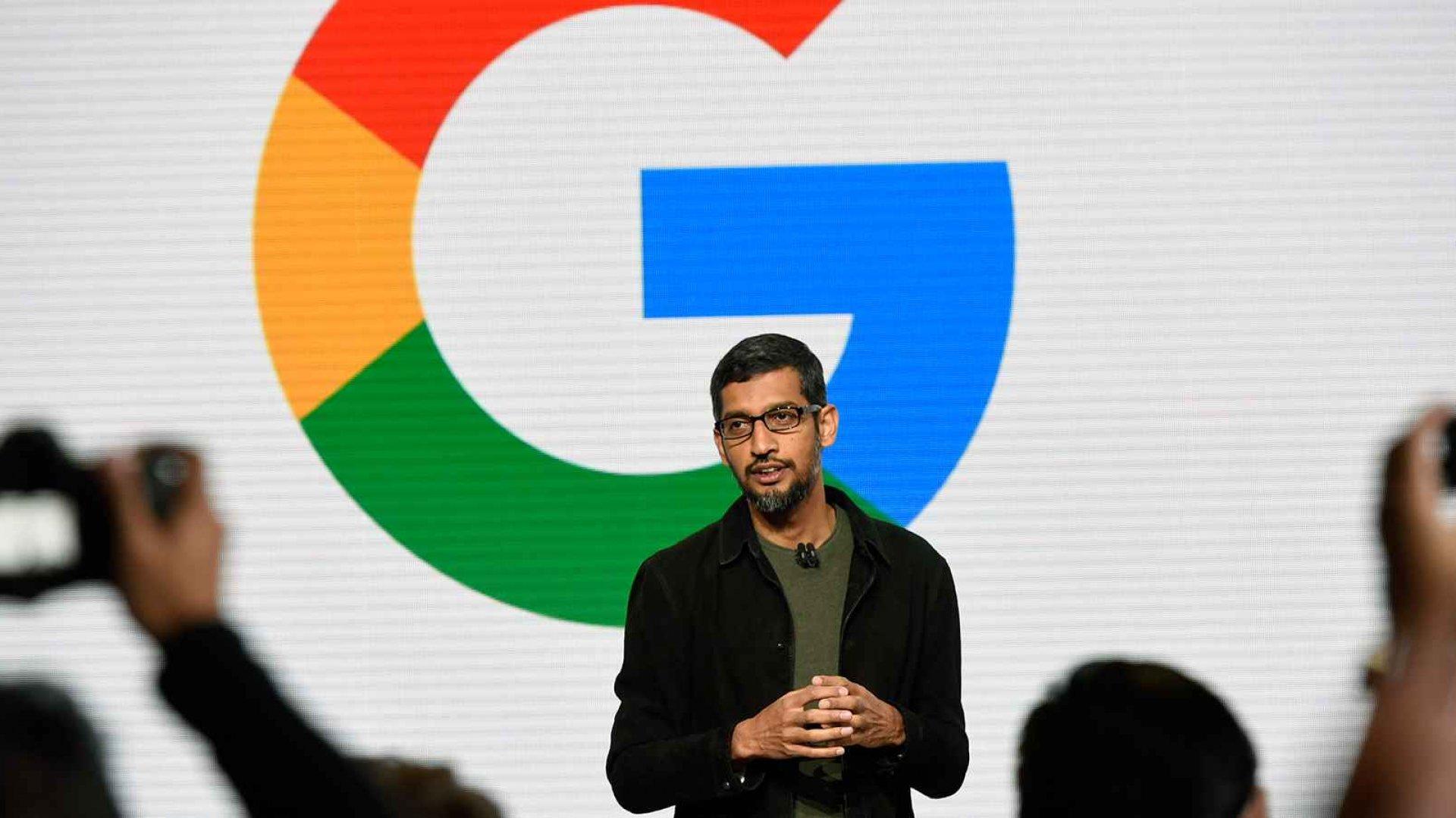 Sundar Pichai, chief executive officer of Google Inc.