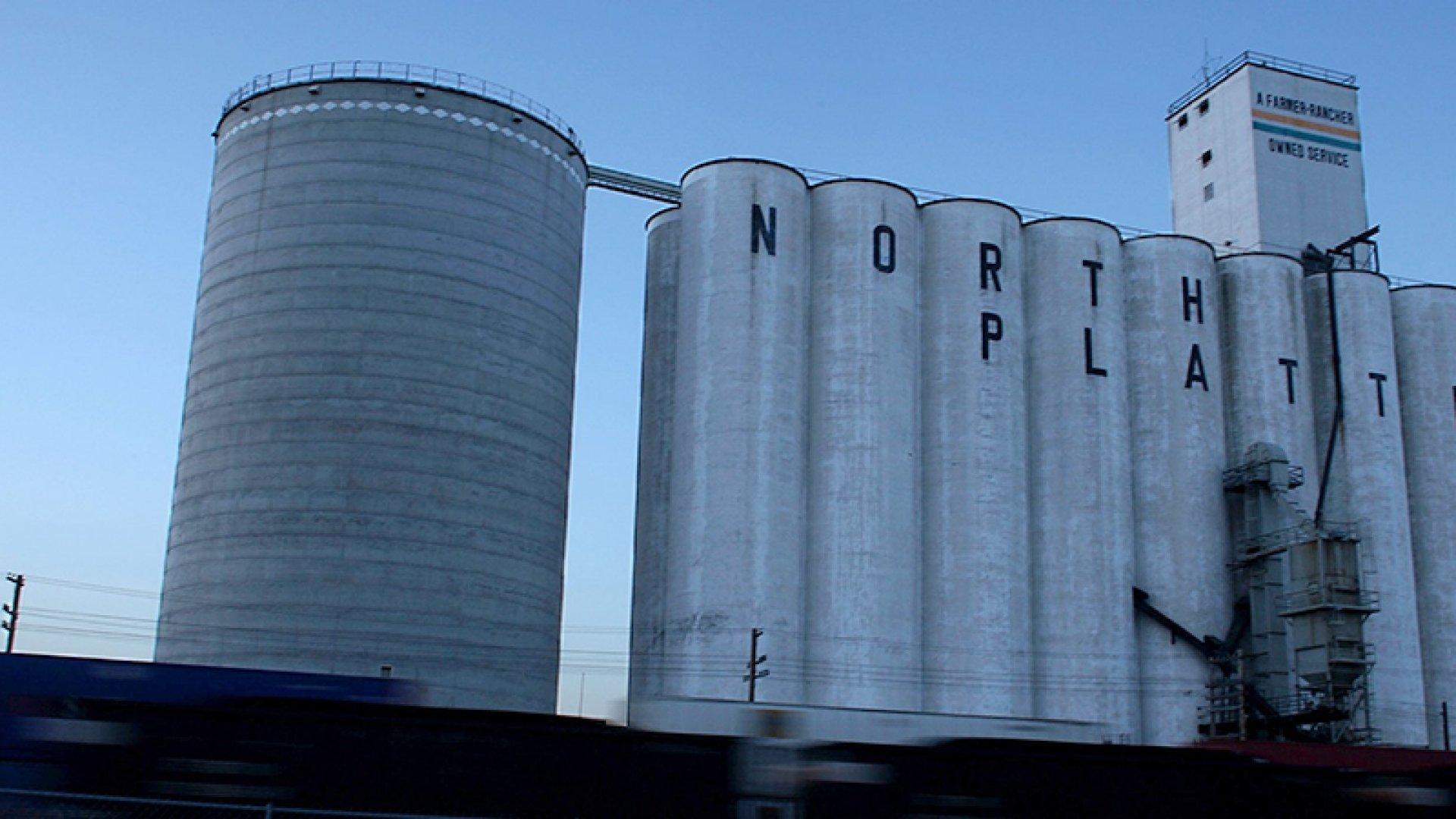 A grain elevator stands June 25, 2007 in North Platte, Nebraska.