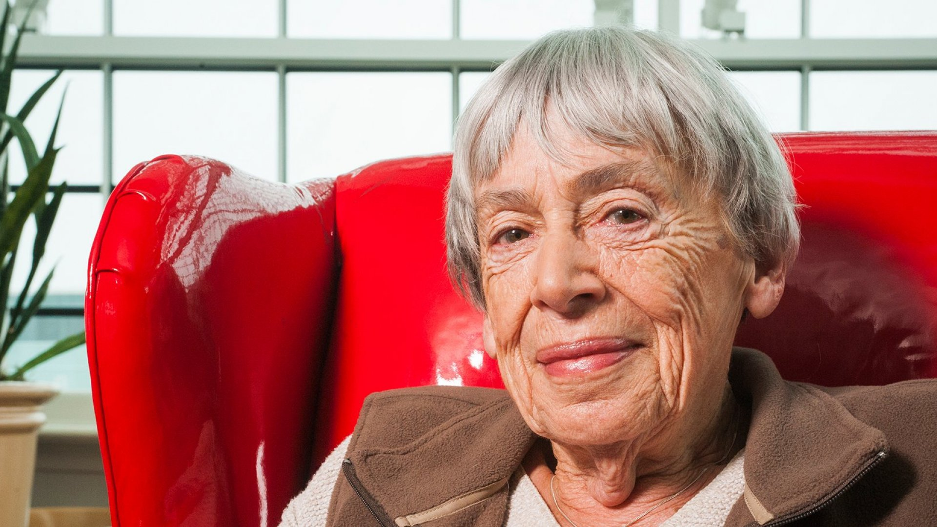 Ursula K. Le Guin, giving the publishing industry a piece of her mind at the National Book Awards in 2014.