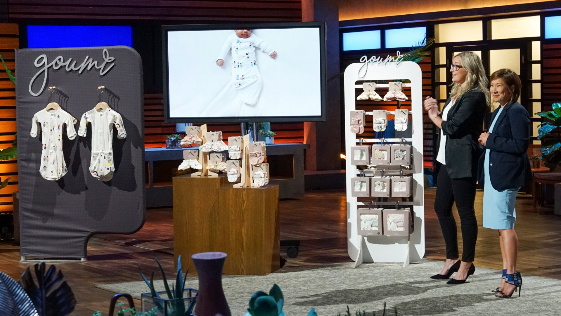 Linsey Fuller and Lili Yeo of Goumi on 'Shark Tank.'