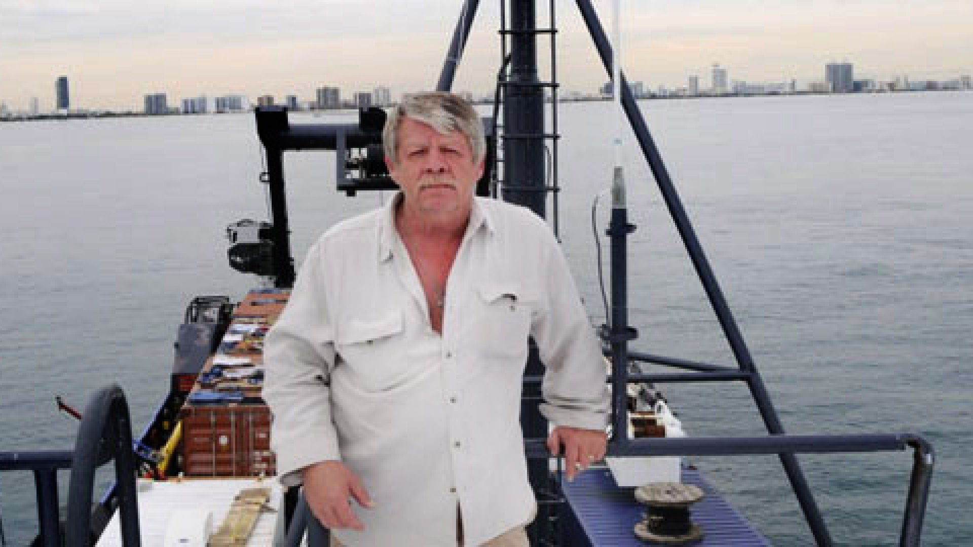 Greg Brooks, owner of Sub Sea Research, on the M/V Sea Hunter.