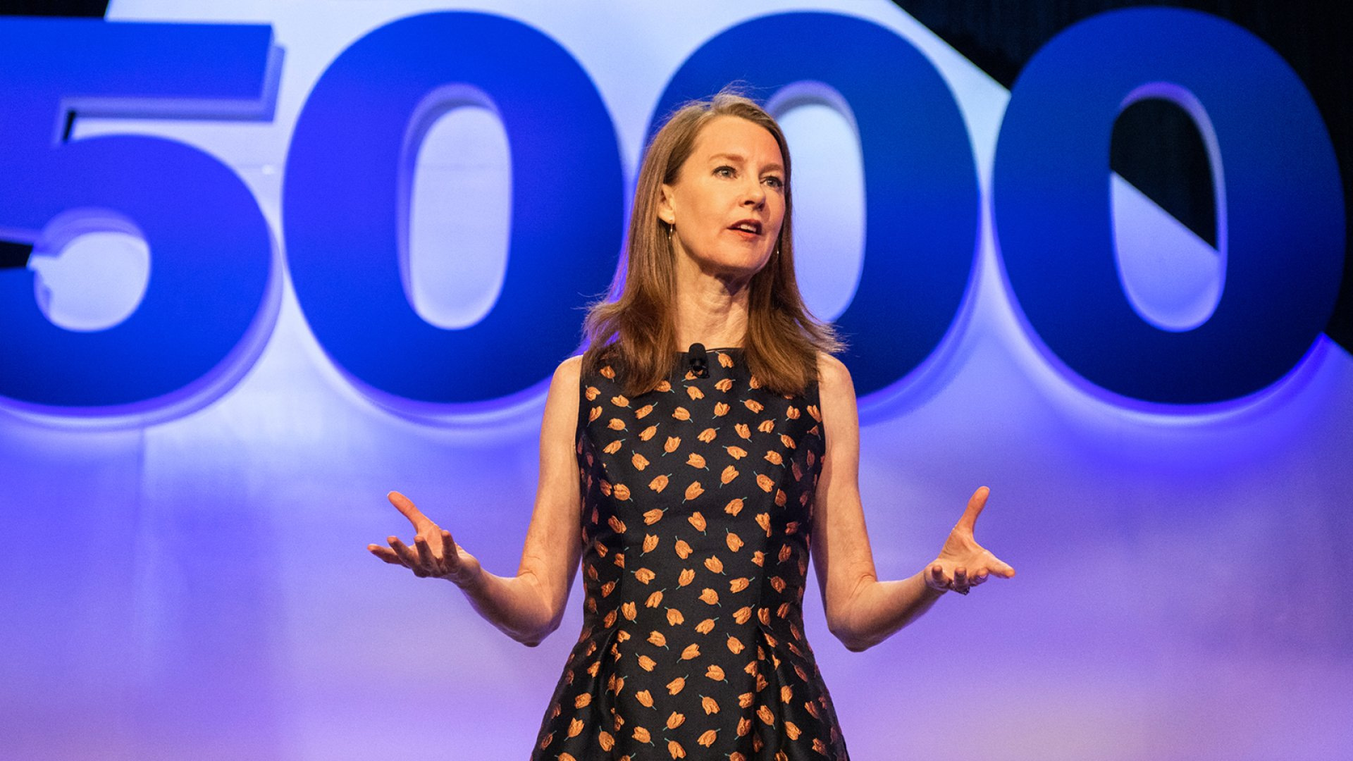 Gretchen Rubin speaks at the 2018 Inc. 5000 conference in San Antonio, Texas.