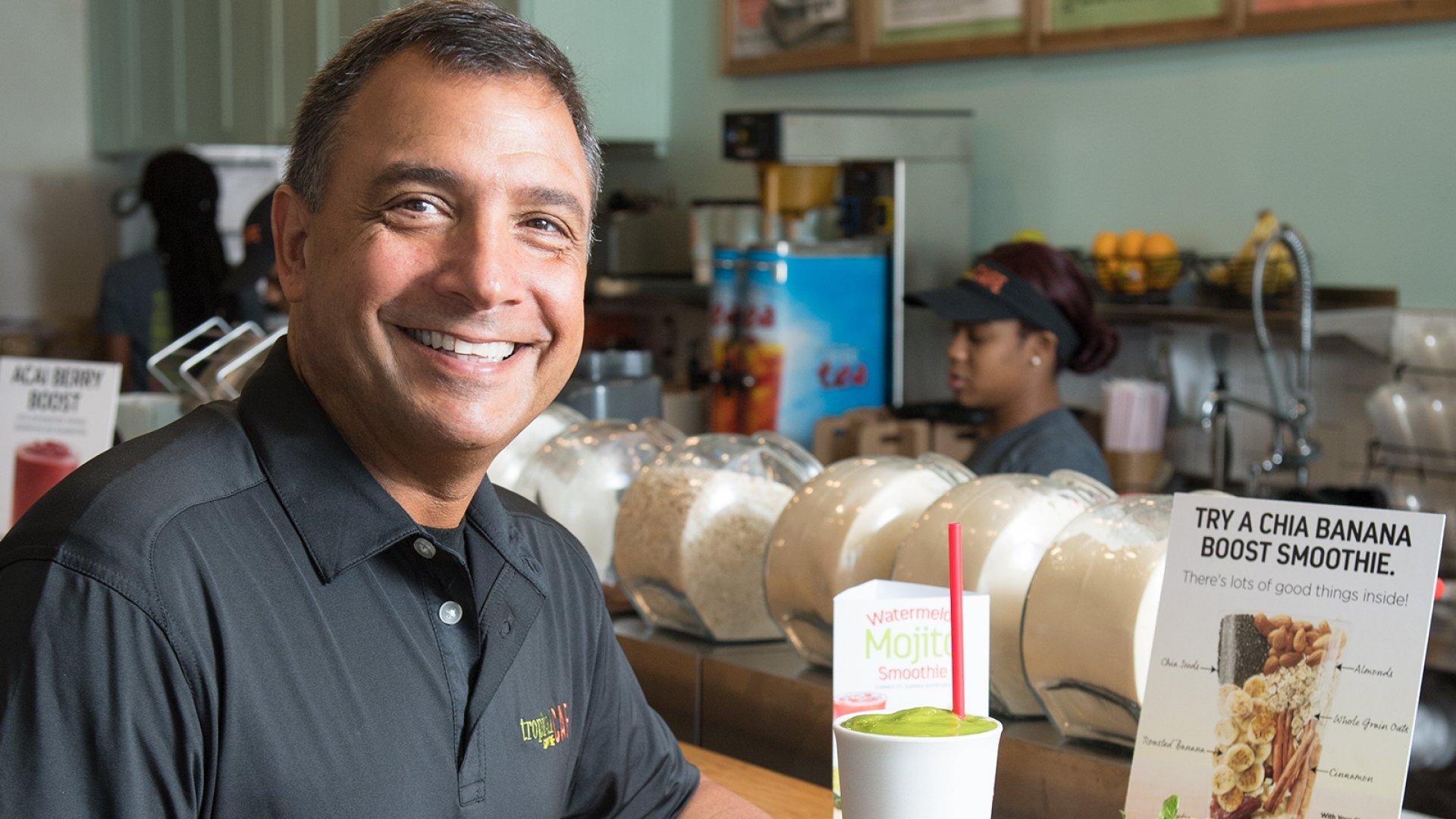 Mike Rotondo, CEO of Tropical Smoothie Cafes