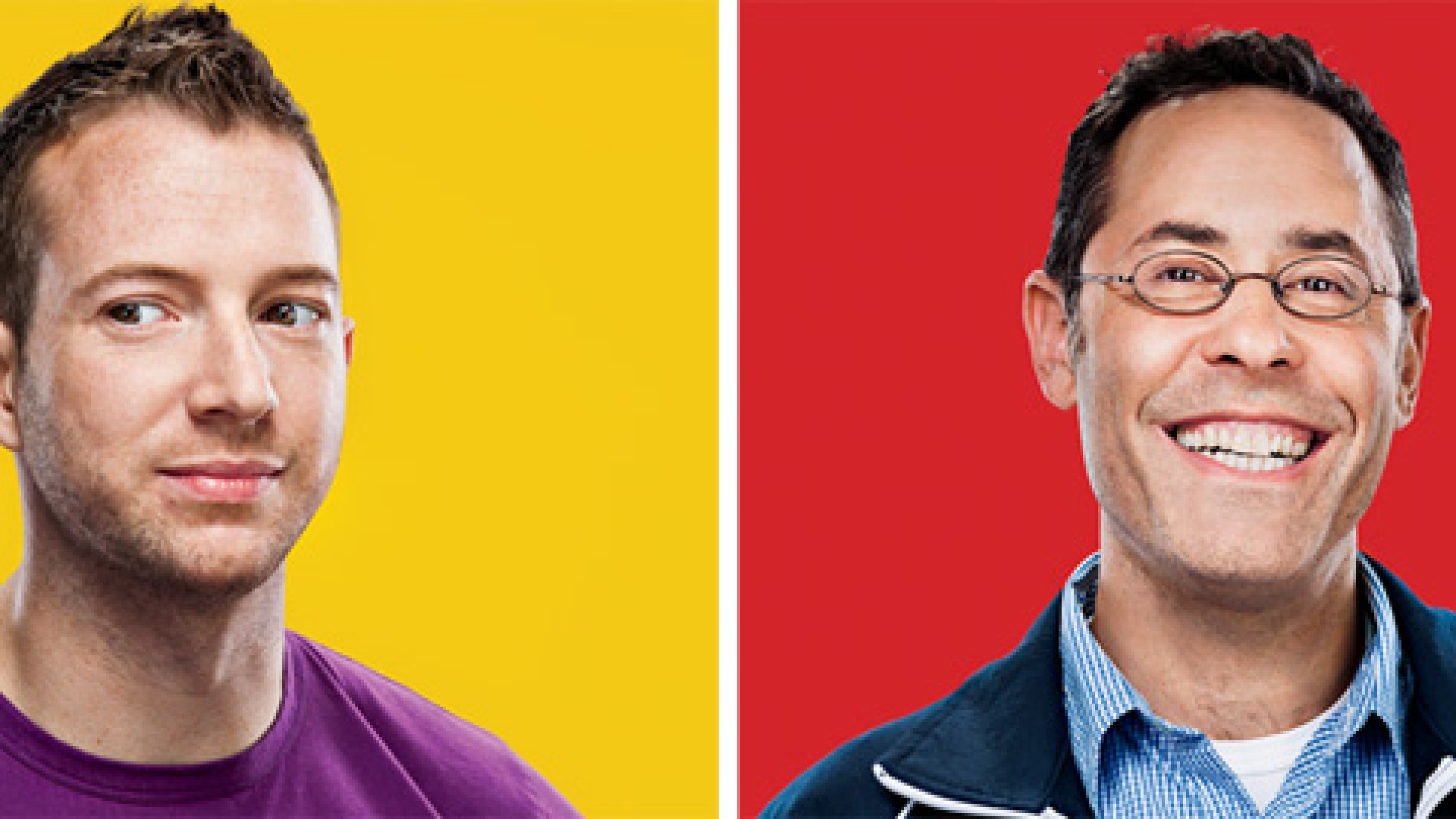 Charles Forman, founder of Omgpop, left, and Dan Porter, the company's CEO, right, have very different perspectives on the same story.