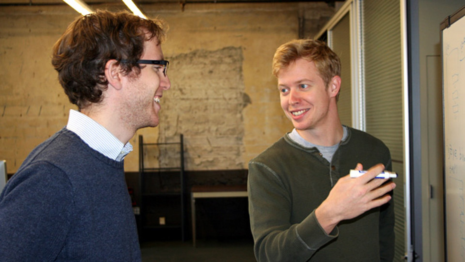 Adam Goldstein and Steve Huffman, co-founders of Hipmunk