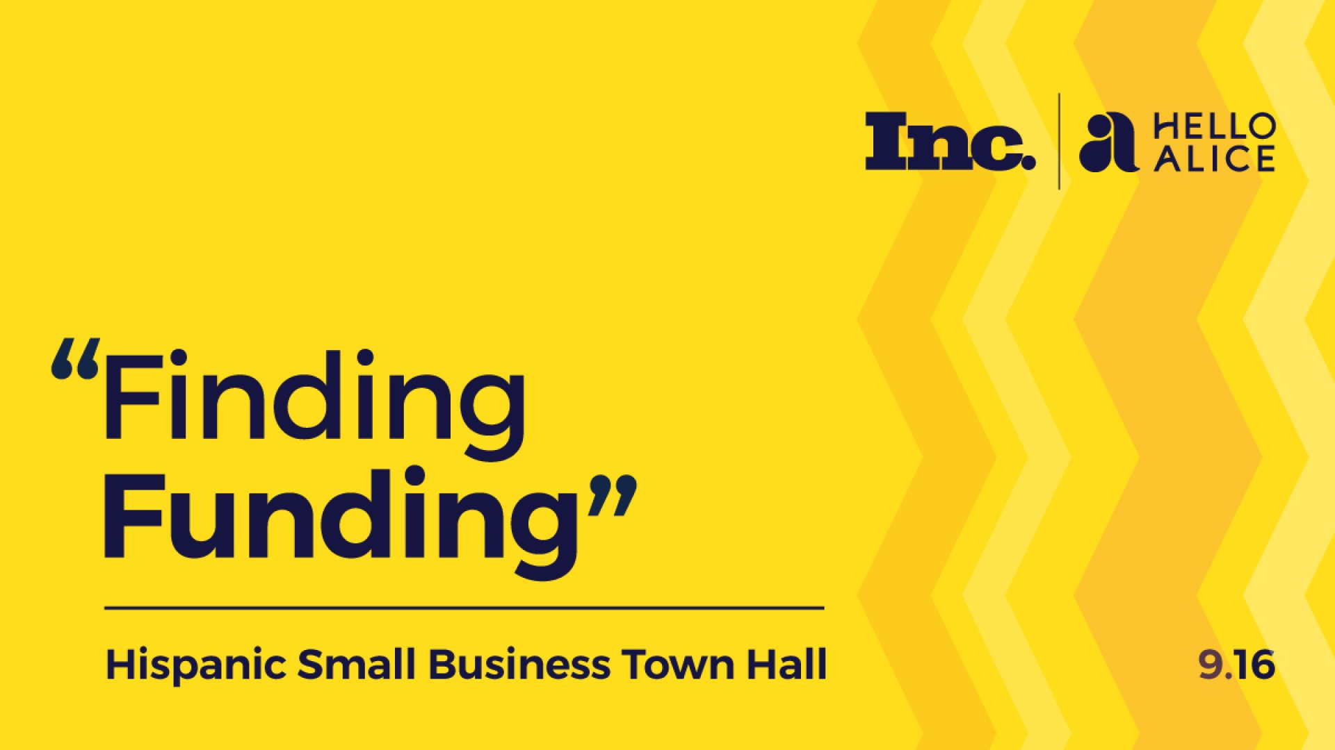 Sign Up Now: Hispanic Small Business Town Hall on September 16 --Finding Funding