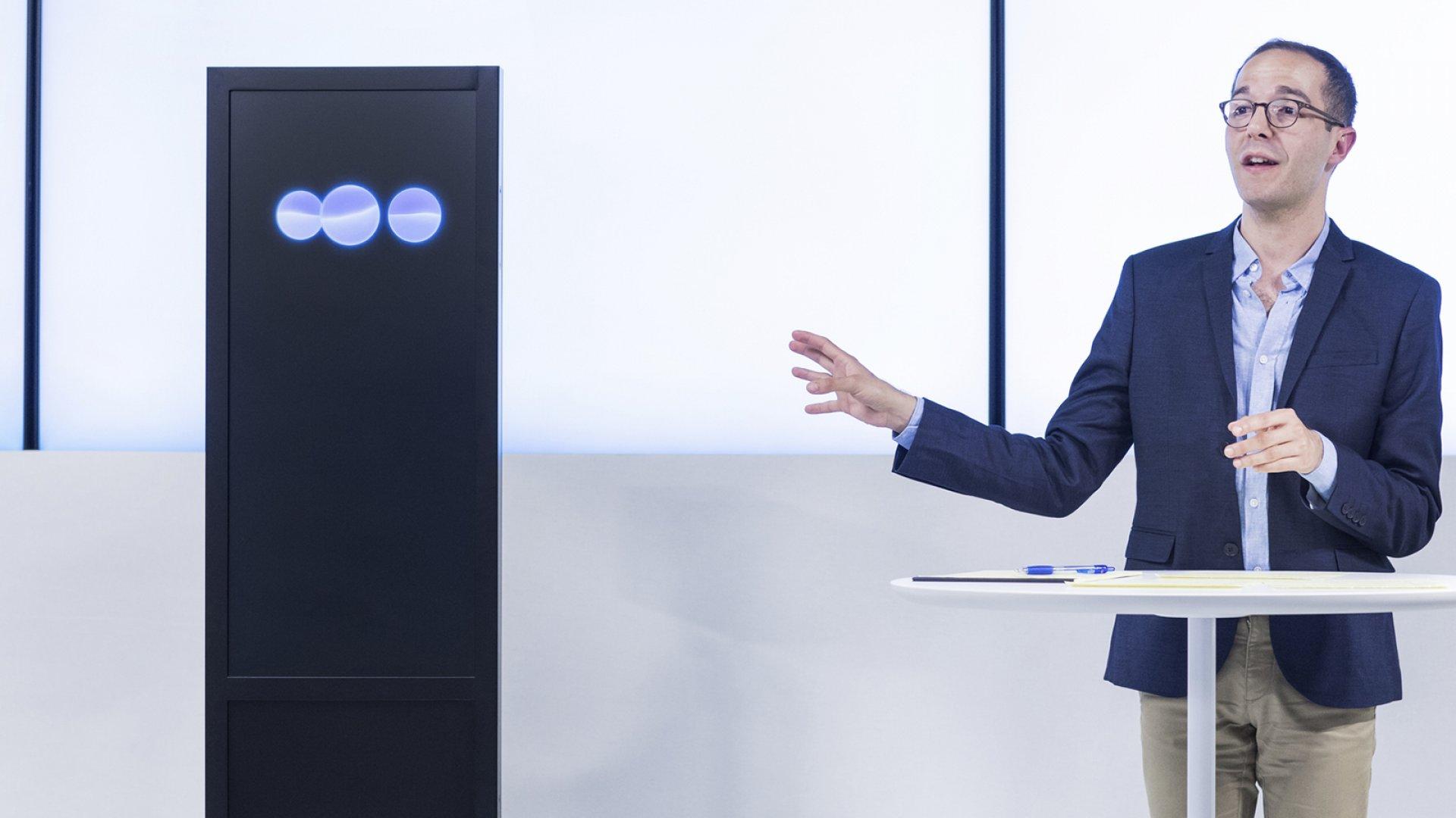 IBM Project Debator and debating champion Dan Zafrir.