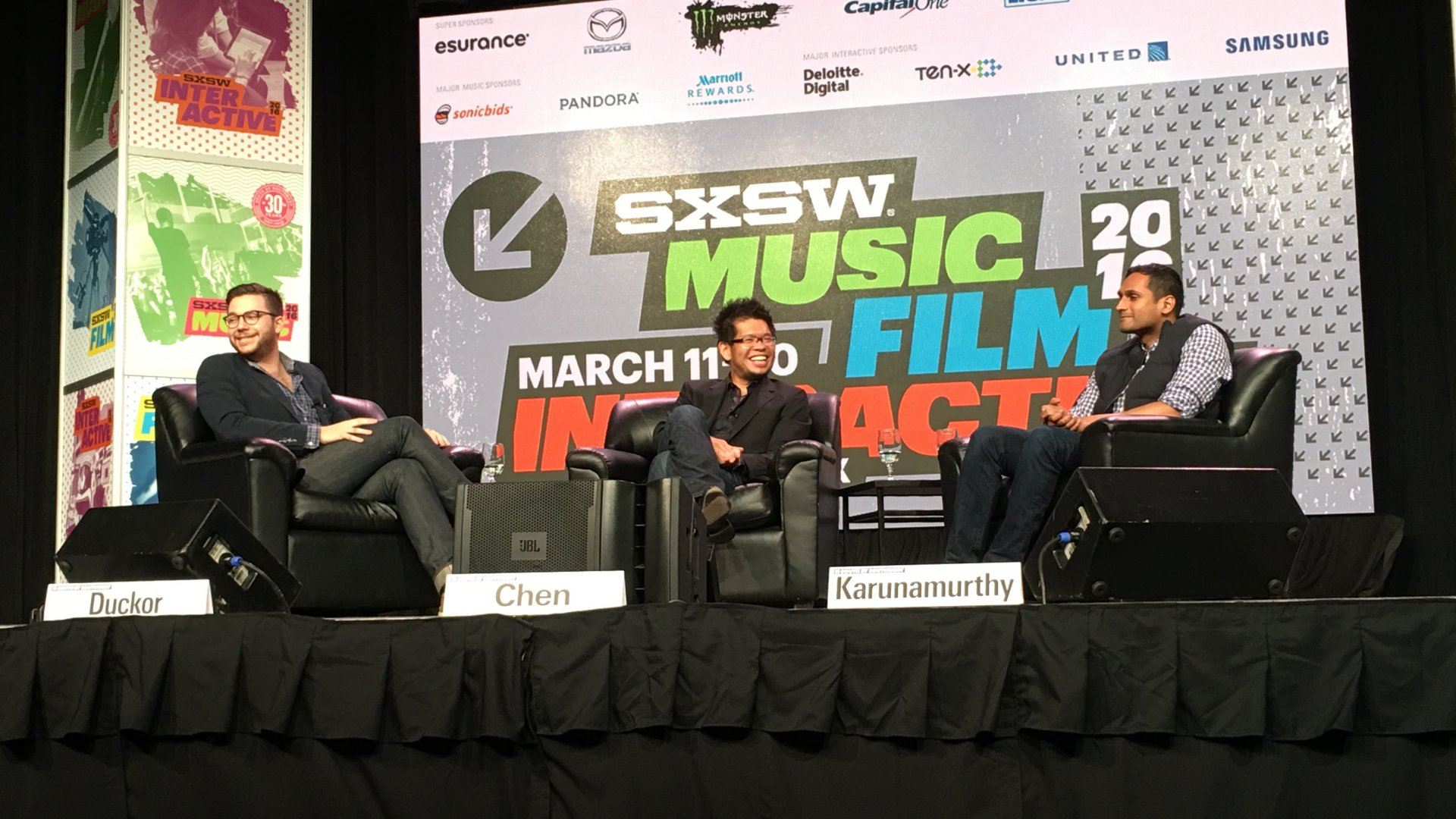 YouTube co-founder Steve Chen and former YouTube lead engineer Vijay Karunamurthy discuss their new startup, Nom, at SXSW.