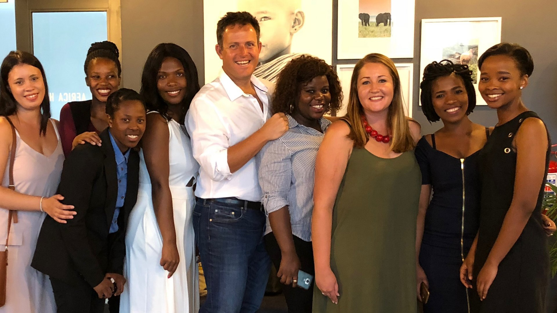 Pieter Geldenhuys (center), founder of Tourism Boot Camp, has trained 20 local interns since 2017, helping to close the gap between South Africa's high unemployment and the lack of talented tourism operators.