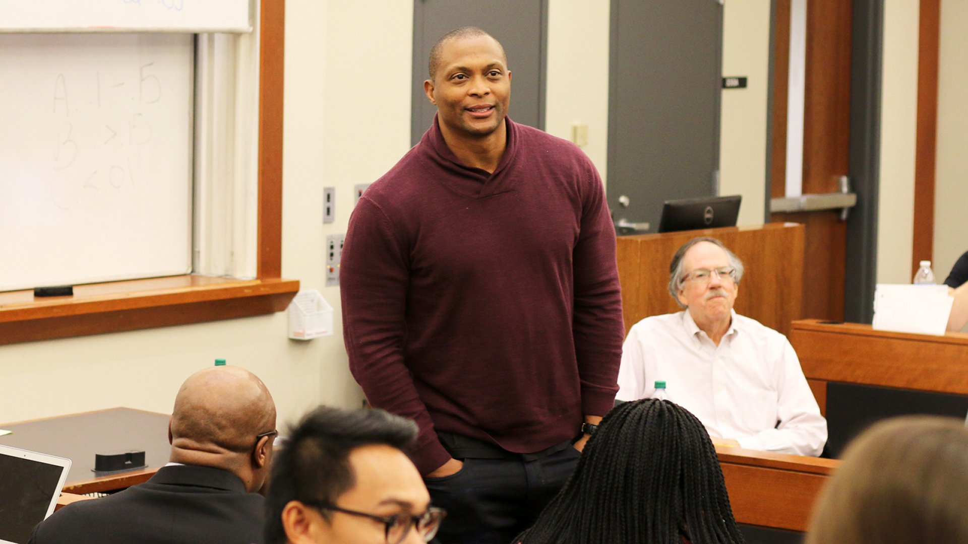 Former NFL player Eddie George teaches at Fisher College of Business.