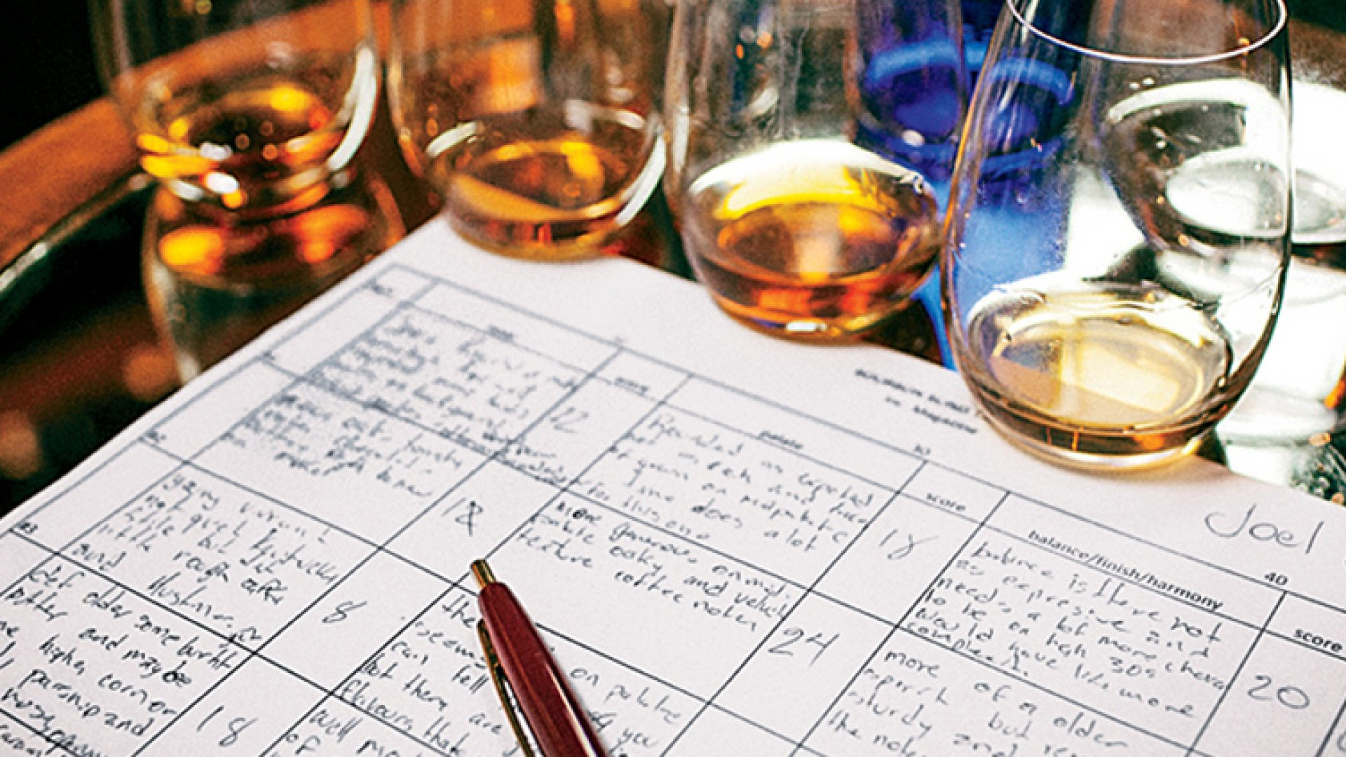 One judge's notes from Cleveland Whiskey's first formal tasting.