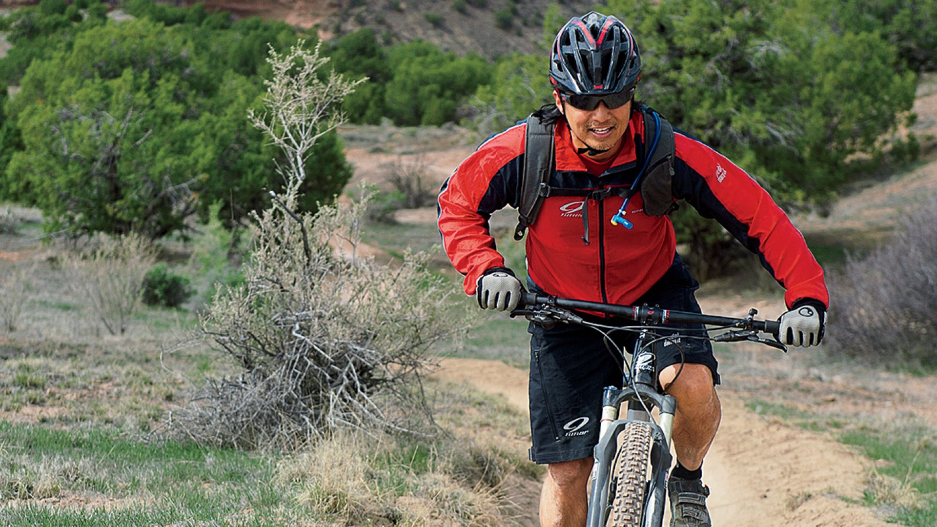 Niner Bikes's CEO, Chris Sugai, hard at work testing one of his company's bikes.