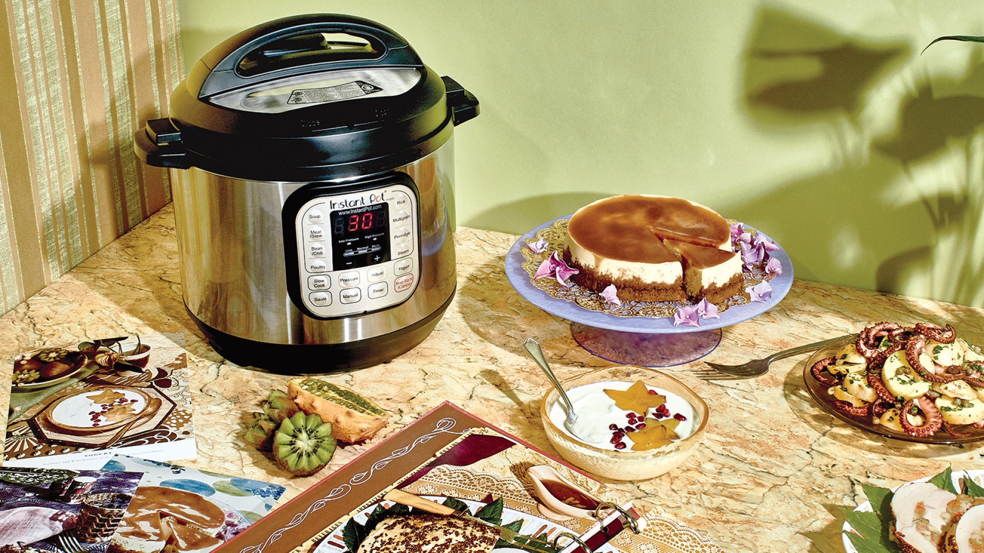Salted caramel cheesecake, octopus potato salad, and homemade yogurt are just a few of the goodies that can be autonomously whipped up in the Instant Pot.