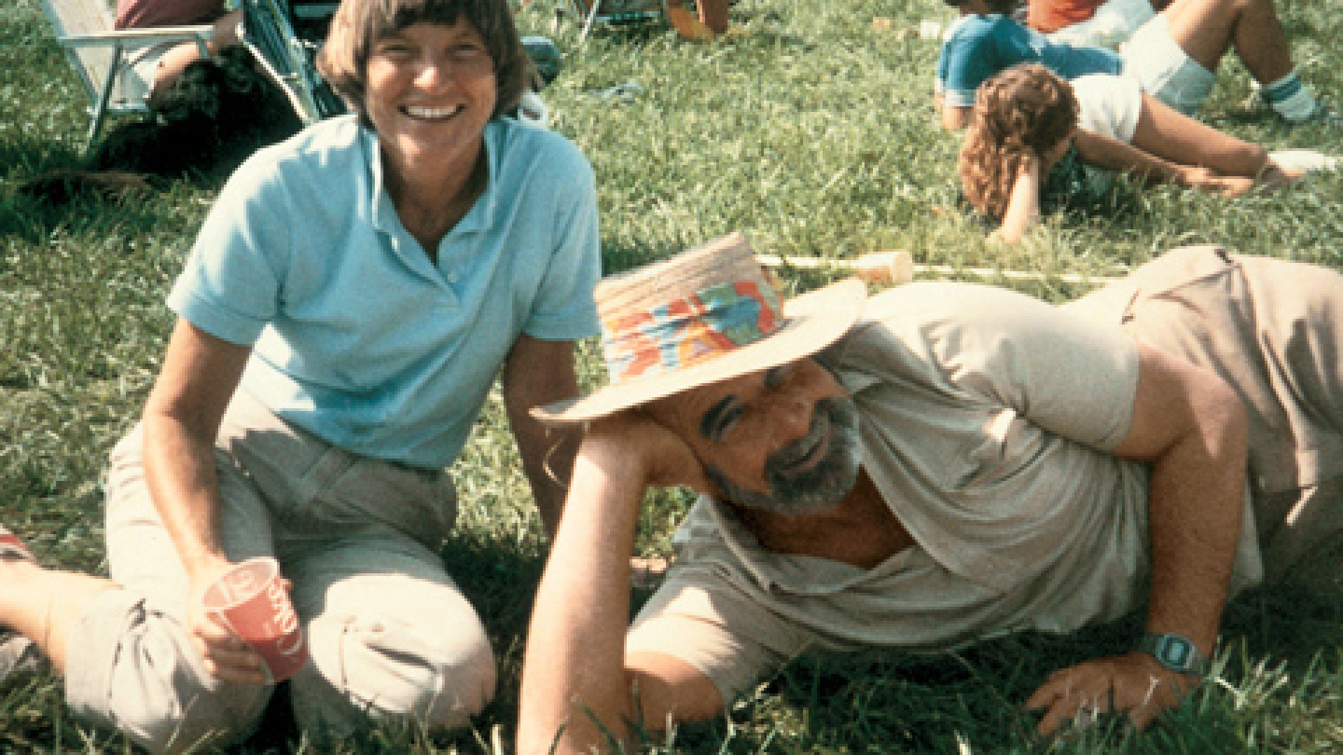 <strong>Down to Earth:</strong> George Rathmann and his wife, Joy, relax at an Amgen company picnic in 1983.