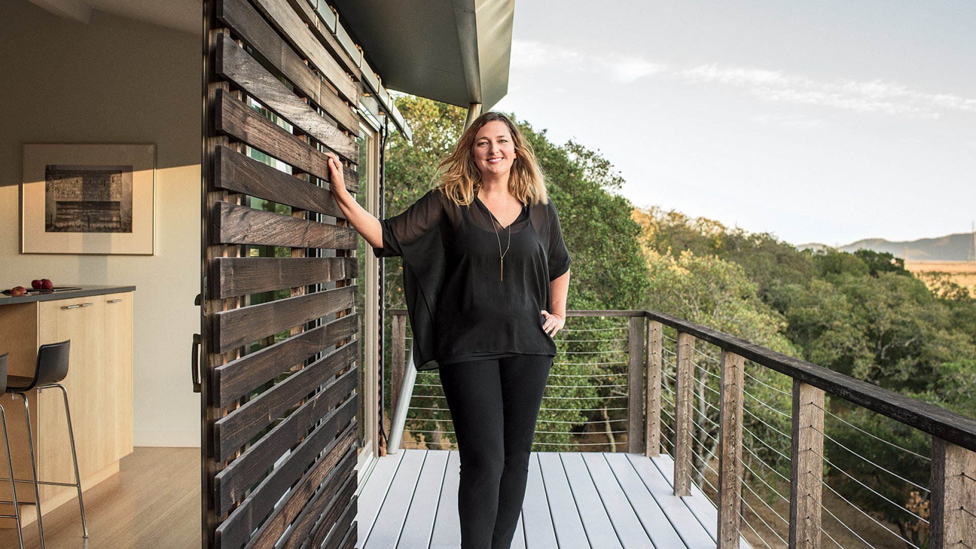 Before architect Michelle Kaufmann worked at Google's top-secret lab, she designed her studio in Novato, California.