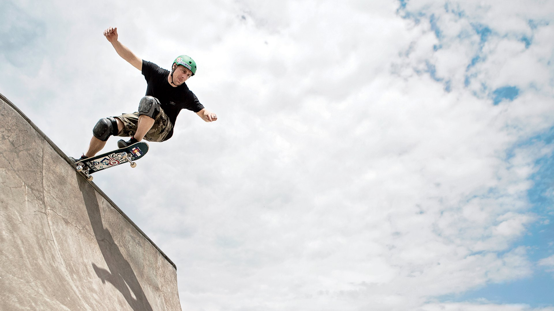Resqwater co-founder Troy Michels, at a skate park near his home in Minneapolis.
