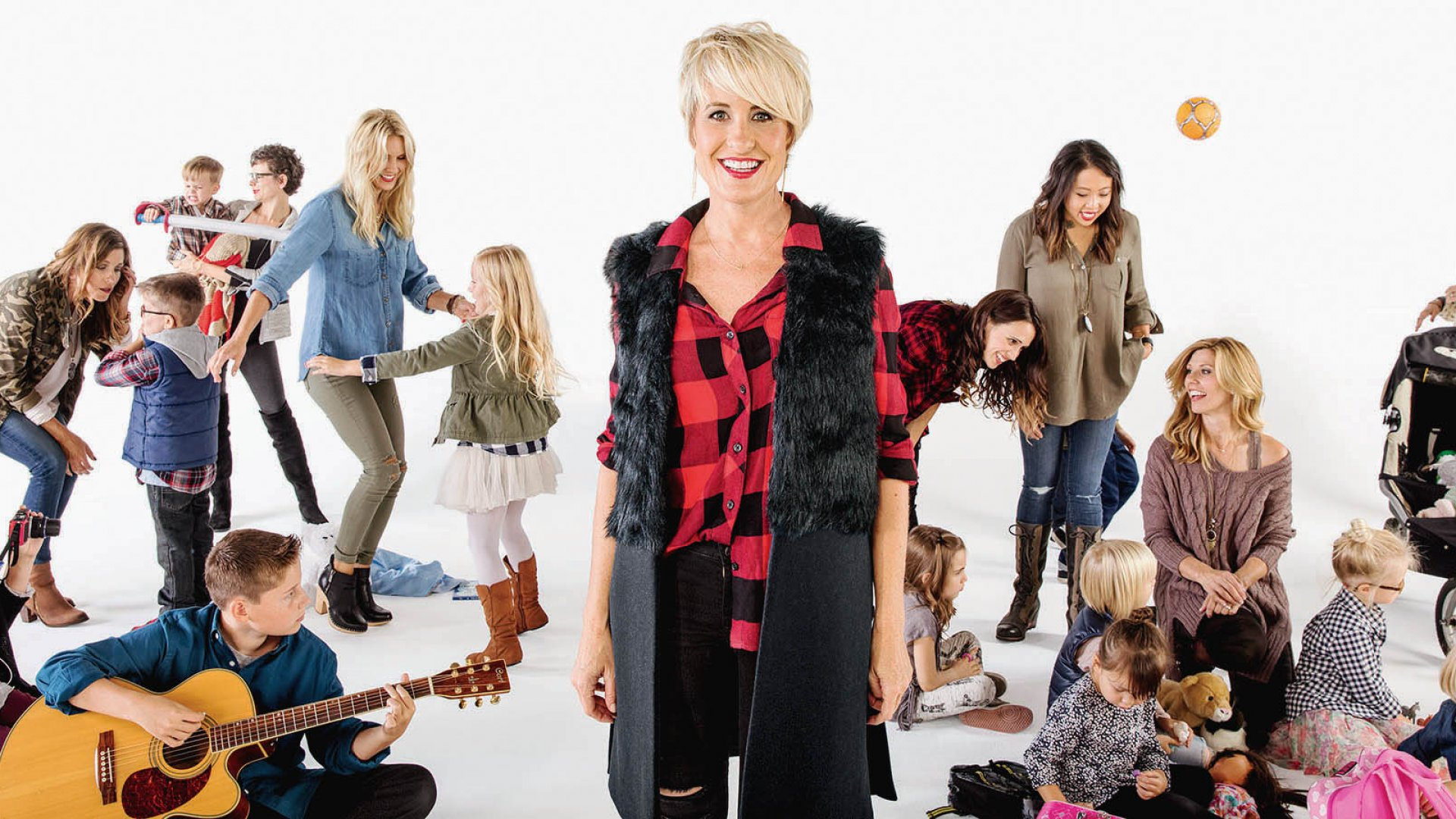 Megan Tamte, surrounded by her Evereve-clad customers, found inspiration from reality TV - and from her frustrating shopping experiences as a young mother.