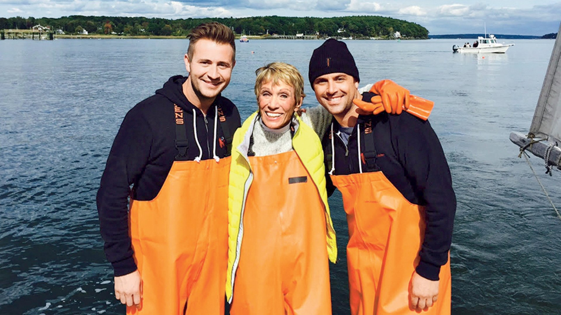 Barbara Corcoran with Cousins Maine Lobster co-founders Sabin Lomac (right) and Jim Tselikis.
