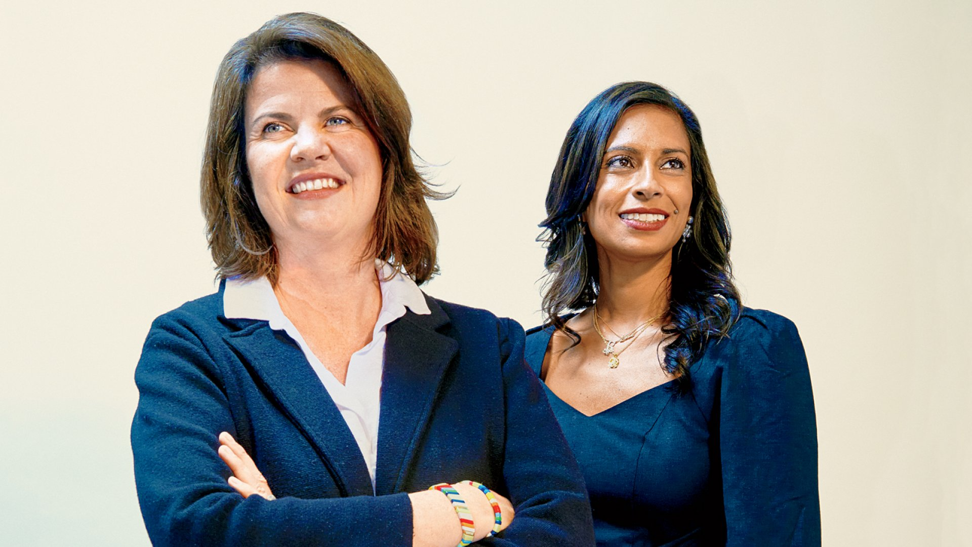 Rhian Horgan, left, founder and CEO of Kindur, and Anu Duggal, founder and CEO of Female Founders Fund.