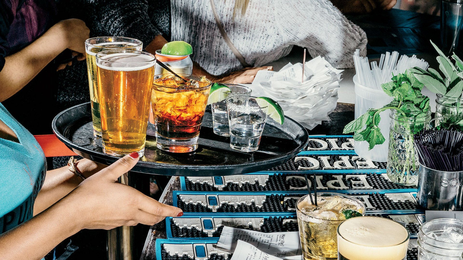 Punch Bowl encourages customers to linger by having servers shadow them throughout its 20,000-square-foot-plus spaces.