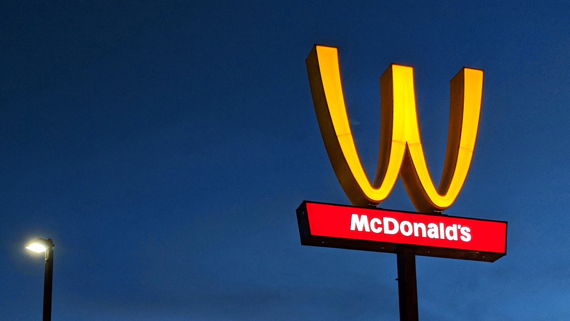 "McDonald's flips its iconic ""M"" arches to a ""W"" for International Women's Day."