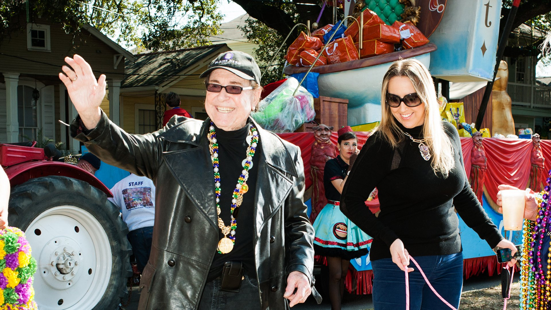 Blaine Kern Sr., the founder of New Orleans legendary Mardi Gras float maker Blaine Kern Studios, and Holly Kern, a sometime rapper nearly 50 years his junior, who's saved his life with CPR more than once.