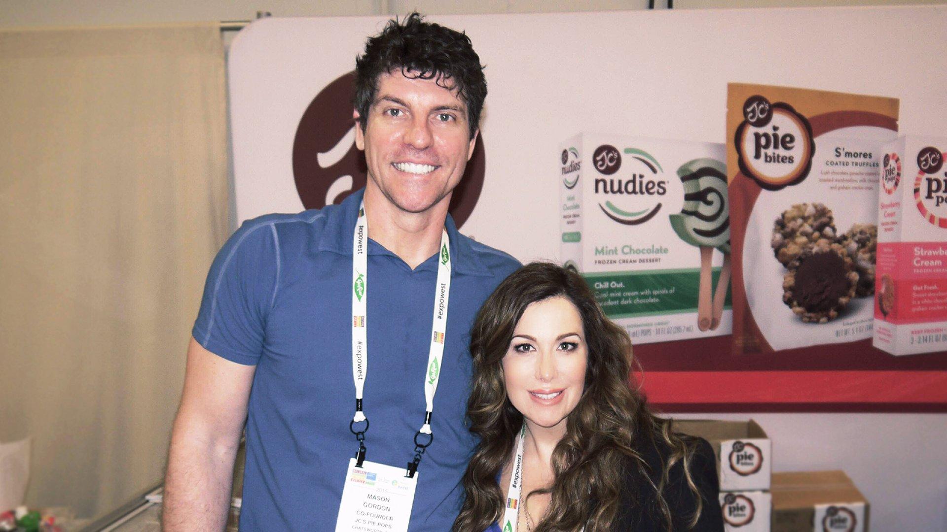 "JC's Pie Pops co-founders Mason Gordon (left) and Jennifer ""JC"" Constantine."