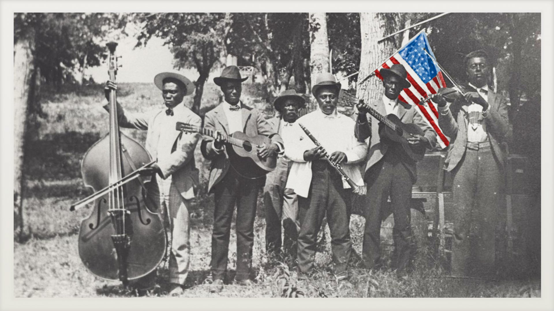 An African American band celebrates Emancipation Day (a.k.a. Juneteenth) on June 19, 1900, in Austin.