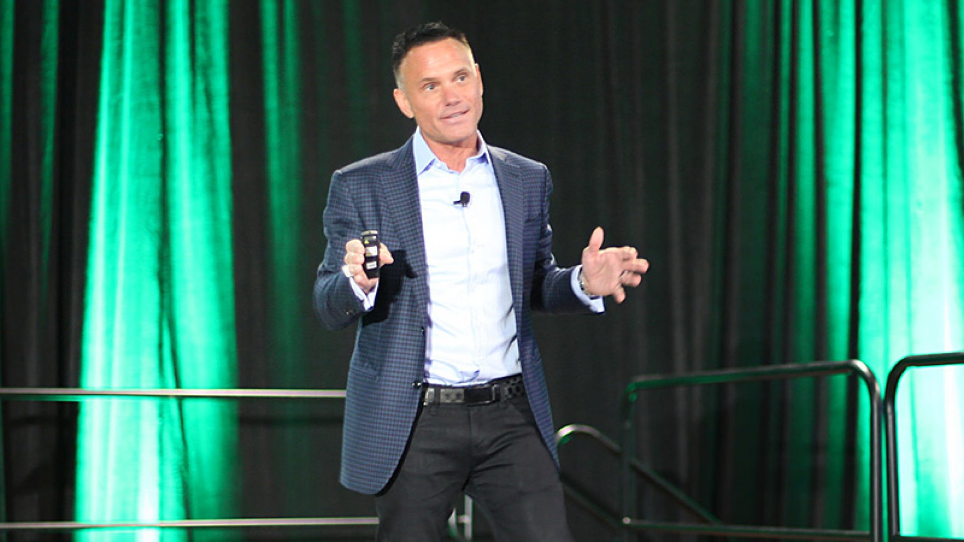 Kevin Harrington, one of the original sharks on ABC's <em>Shark Tank</em>, gave the keynote speech at the Marijuana Investor Summit in Denver on April 21, 2015. Harrington says the cannabis industry could be worth $200 billion by 2030.