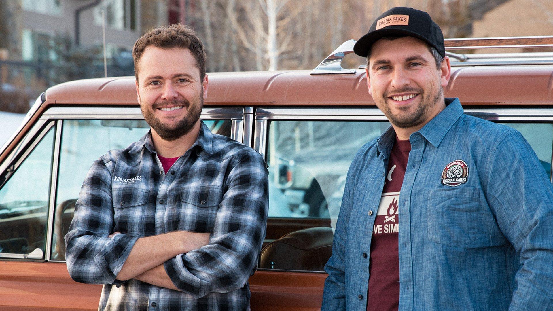 Kodiak Cakes CEO Joel Clark (left) and COO Cameron Smith.