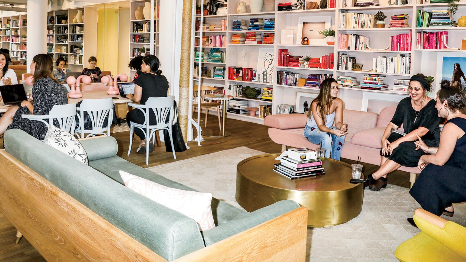 The Wing, in New York City, is a membership-based, female-only co-working-space-meets-social-club that raised $8 million in funding from investors including Kleiner Perkins, NEA, and the co-founders of SoulCycle--and plans to scale nationally.
