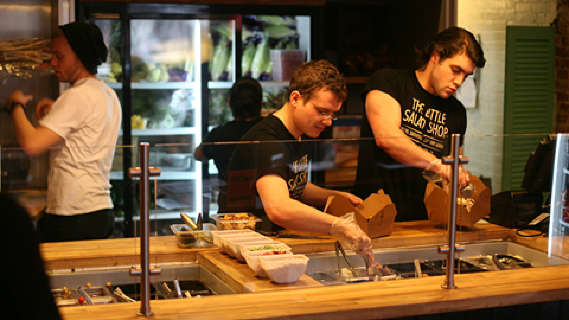 The Little Salad Shop has focuses on providing quick, affordable, health food, while serving the campus and community as well, says co-founders Jerry Choinski (pictured left) and Etkin Tekin (right).