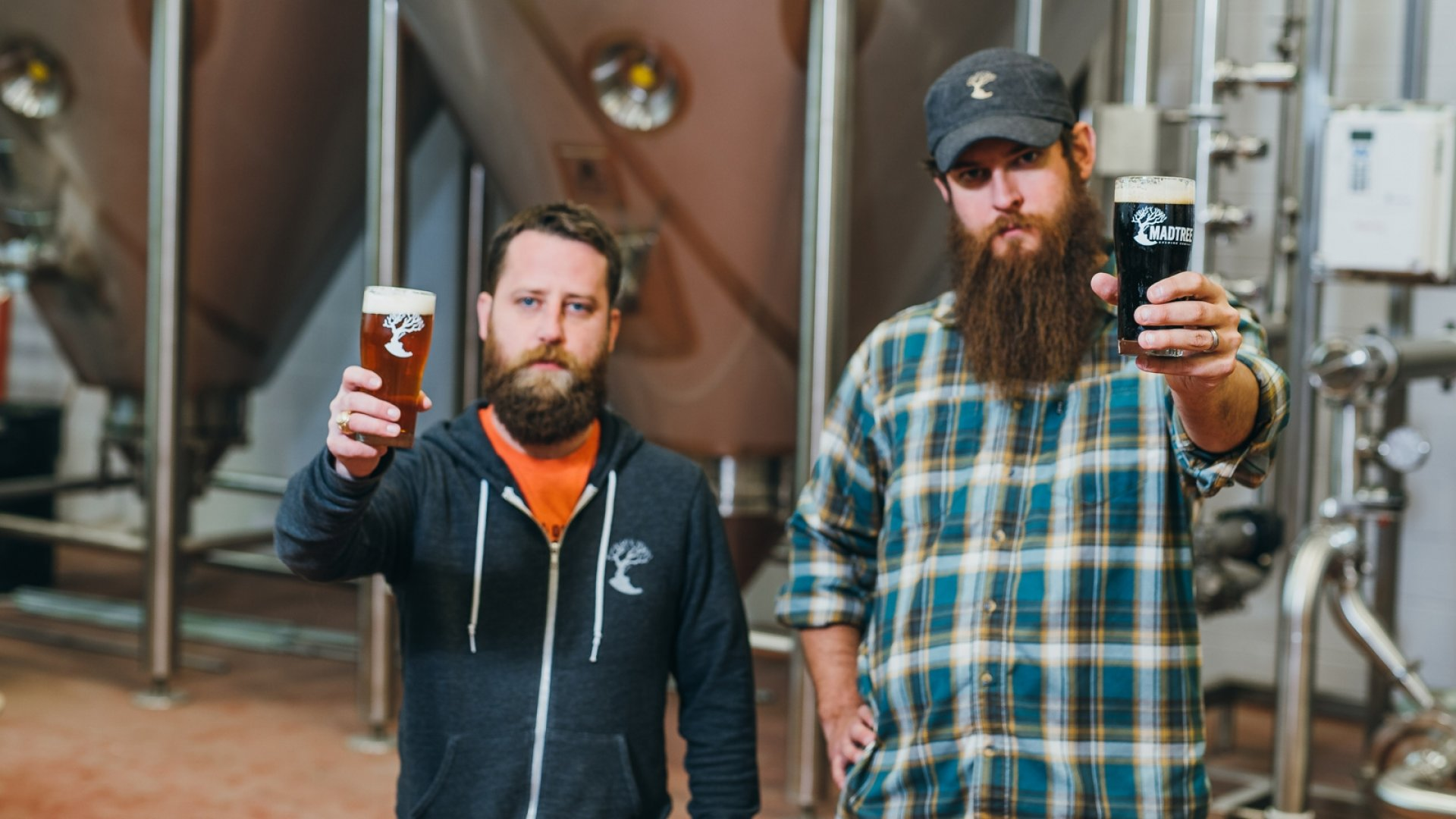 Kenny McNutt and Brady Duncan of MadTree Brewery.