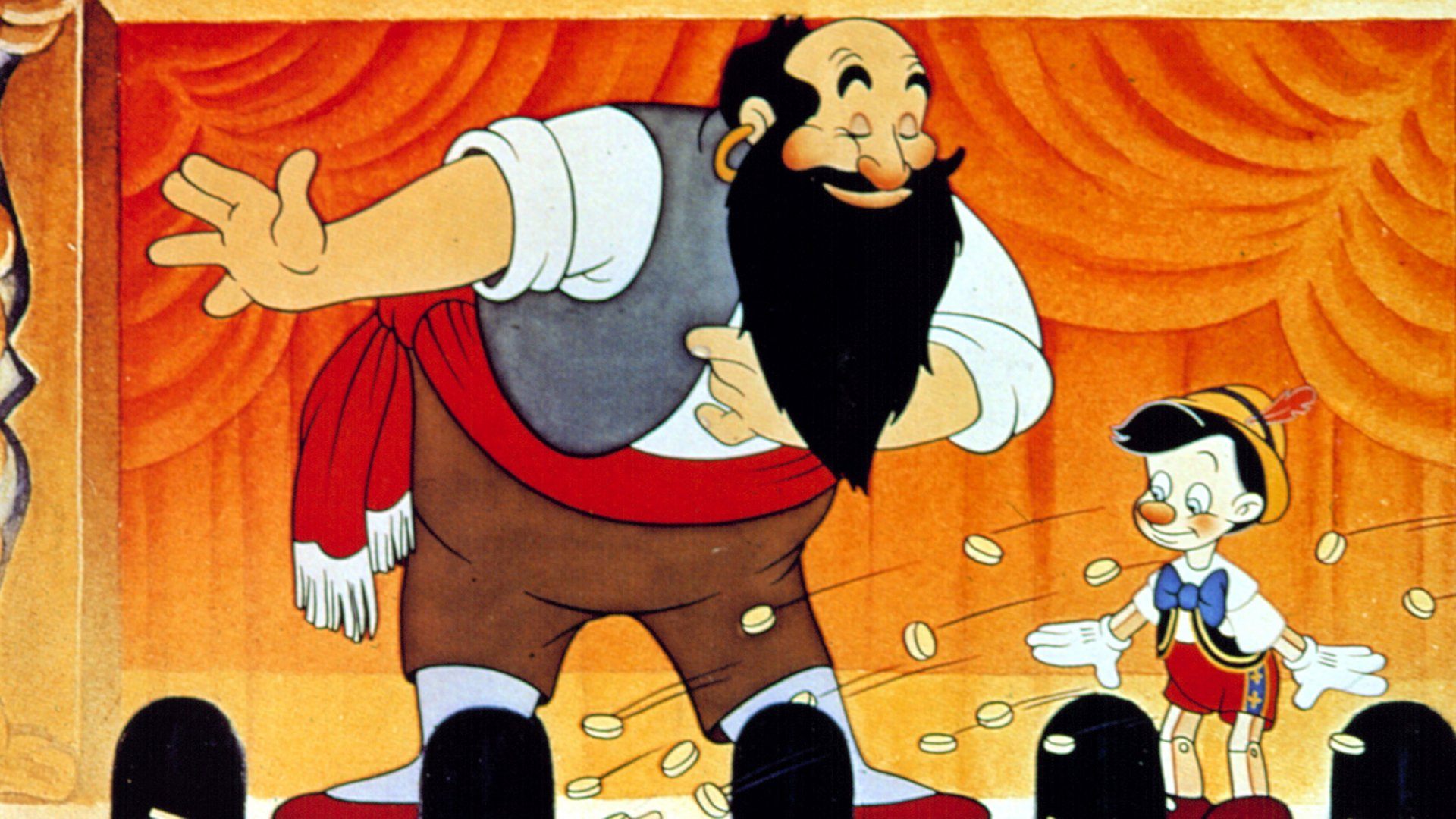 Stromboli and Pinocchio from the 1940's classic <i>Pinocchio</i>.