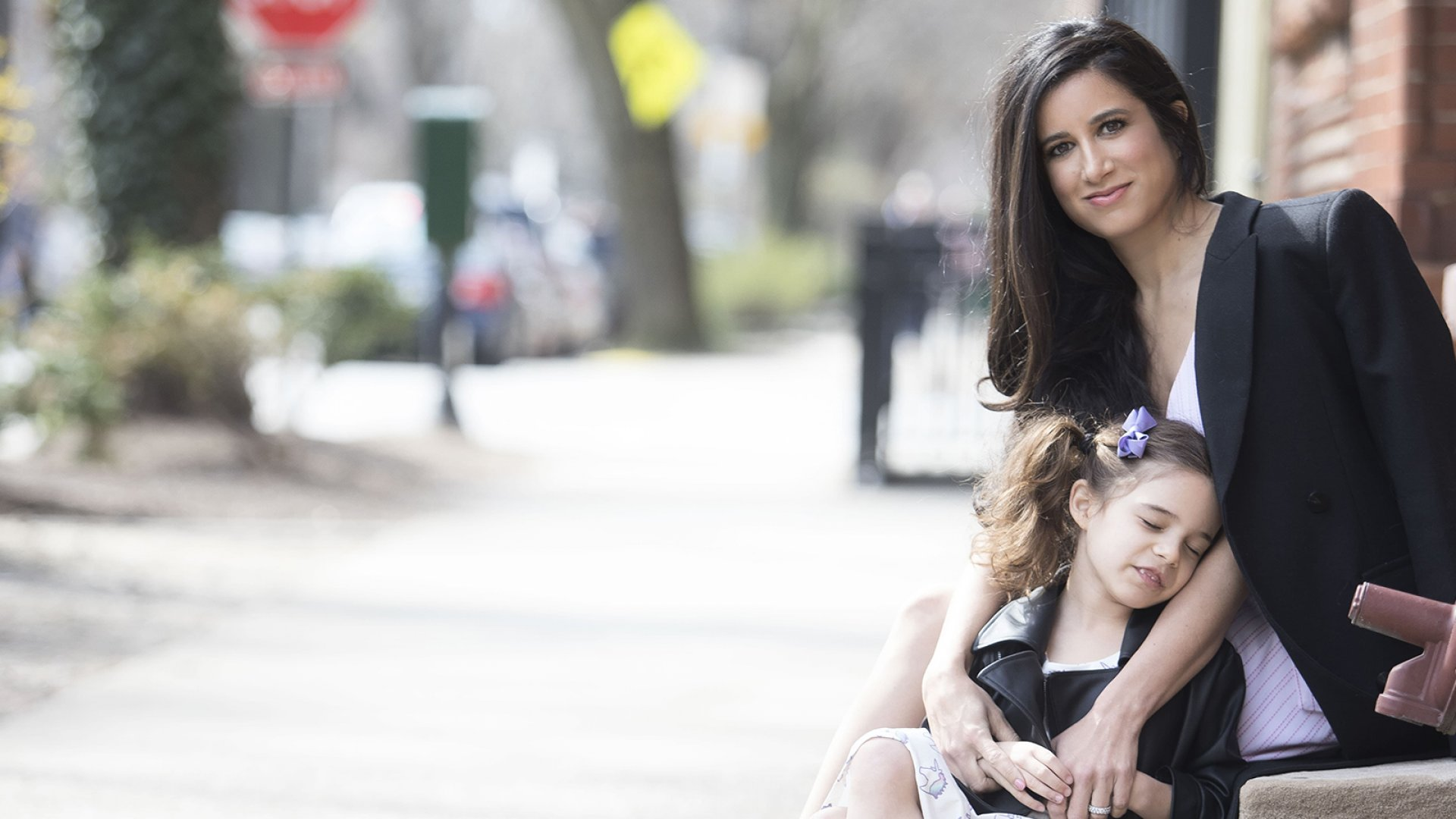 Monica Royer, the founder of Monica + Andy, with her daughter.