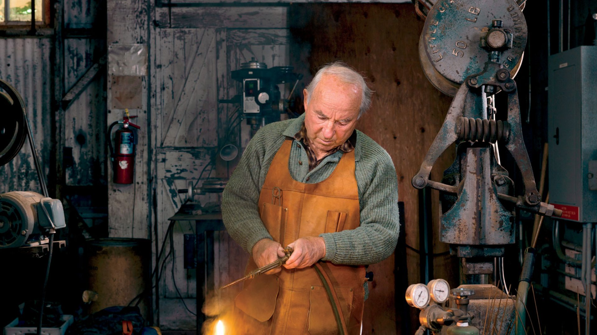 <b>Chief Tinkerer:</b> Here's where Yvon Chouinard's side projects come to life. His latest: an energy-efficient camping stove.