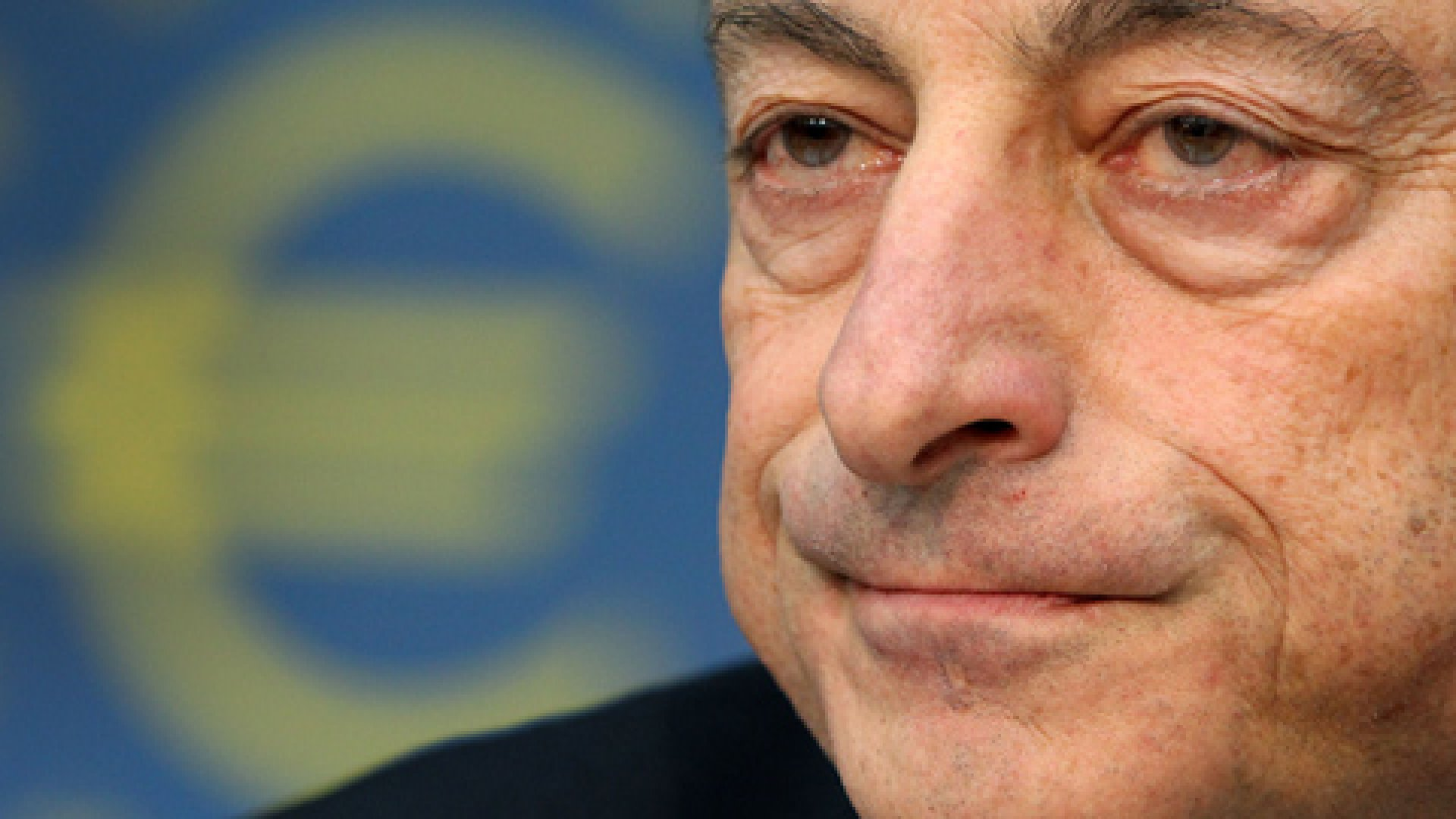 Mario Draghi, President of the European Central Bank, ECB addresses the media during a press conference following the meeting of the ECB Governing Council in Frankfurt am Main, western Germany, on December 8, 2011.