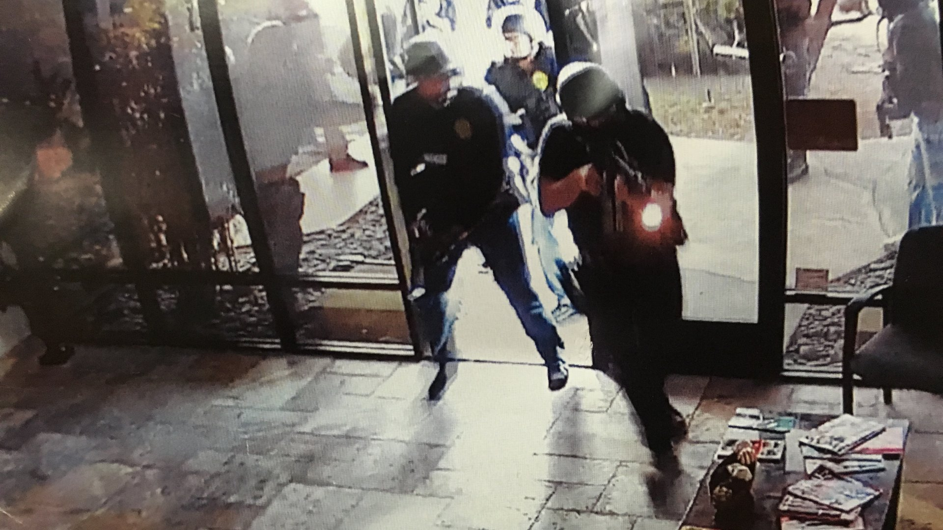 Security camera footage from January 28, 2016, shows police conducting a raid on Med-West, a THC extraction and medical marijuana products manufacturer and distributor in San Diego.